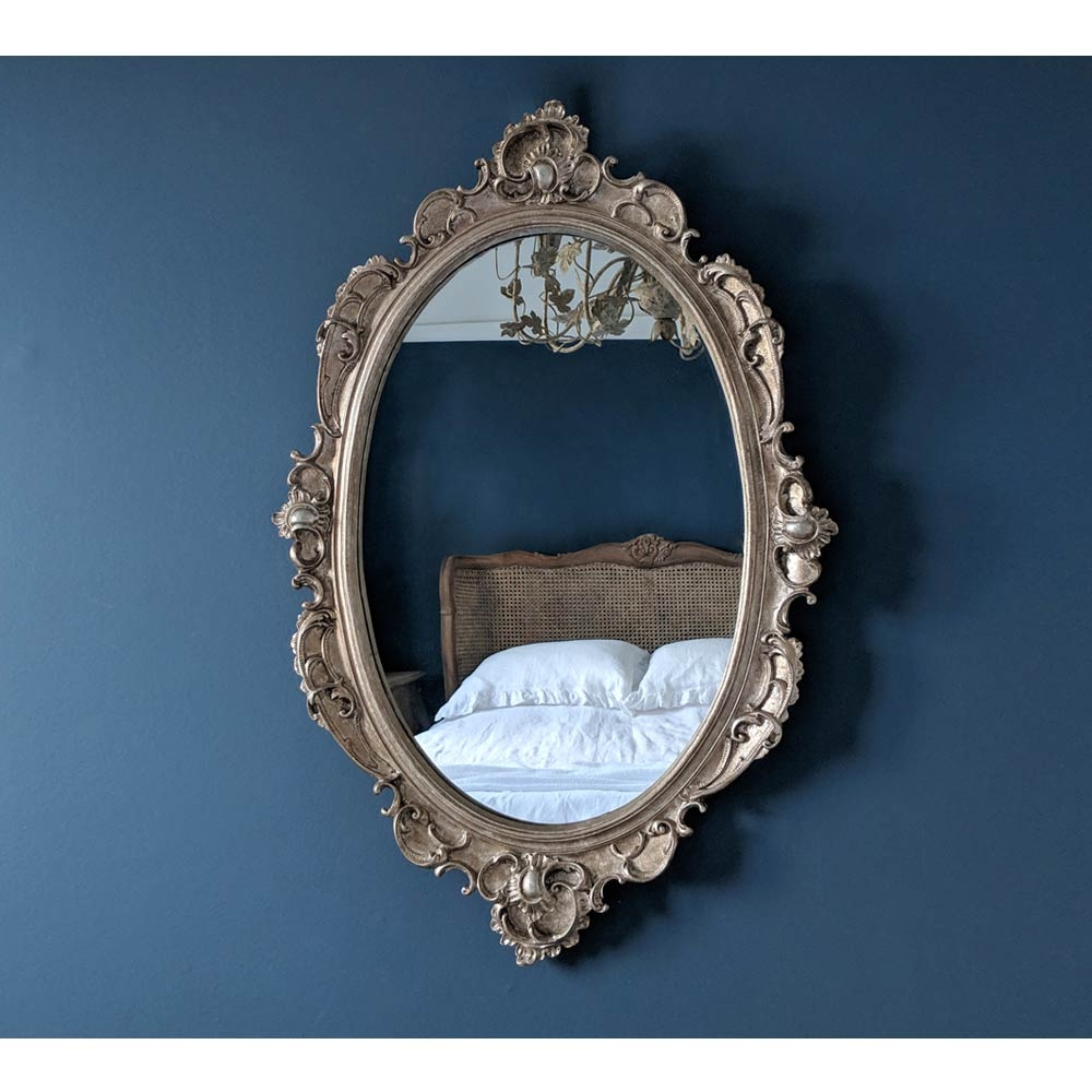 French Oval Mirror Intended For 2019 Pretty Wall Mirrors (View 4 of 20)