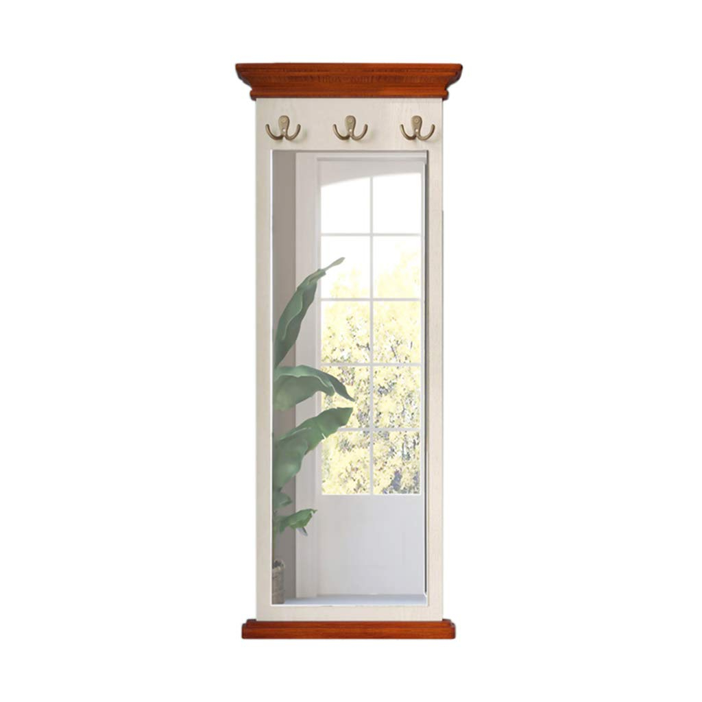 Full Length Decorative Wall Mirrors With Latest Amazon: Rectangle Full Length Bedroom Mirror With Hook – Wood (View 7 of 20)