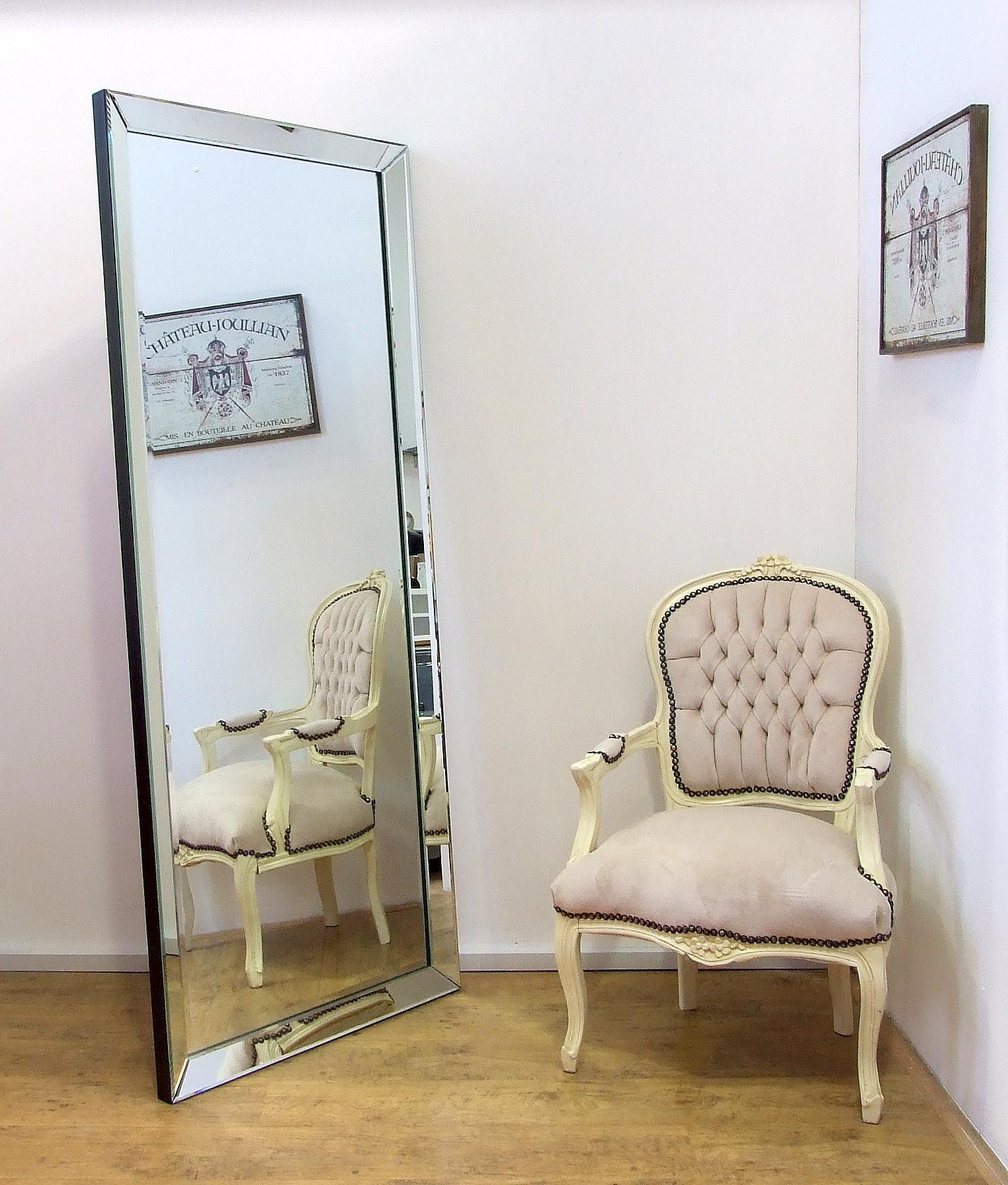 Full Length Frameless Wall Mirrors In Most Up To Date Luna Modern Full Length Xlarge Frameless Wall Leaner Floor Mirror  (View 11 of 20)