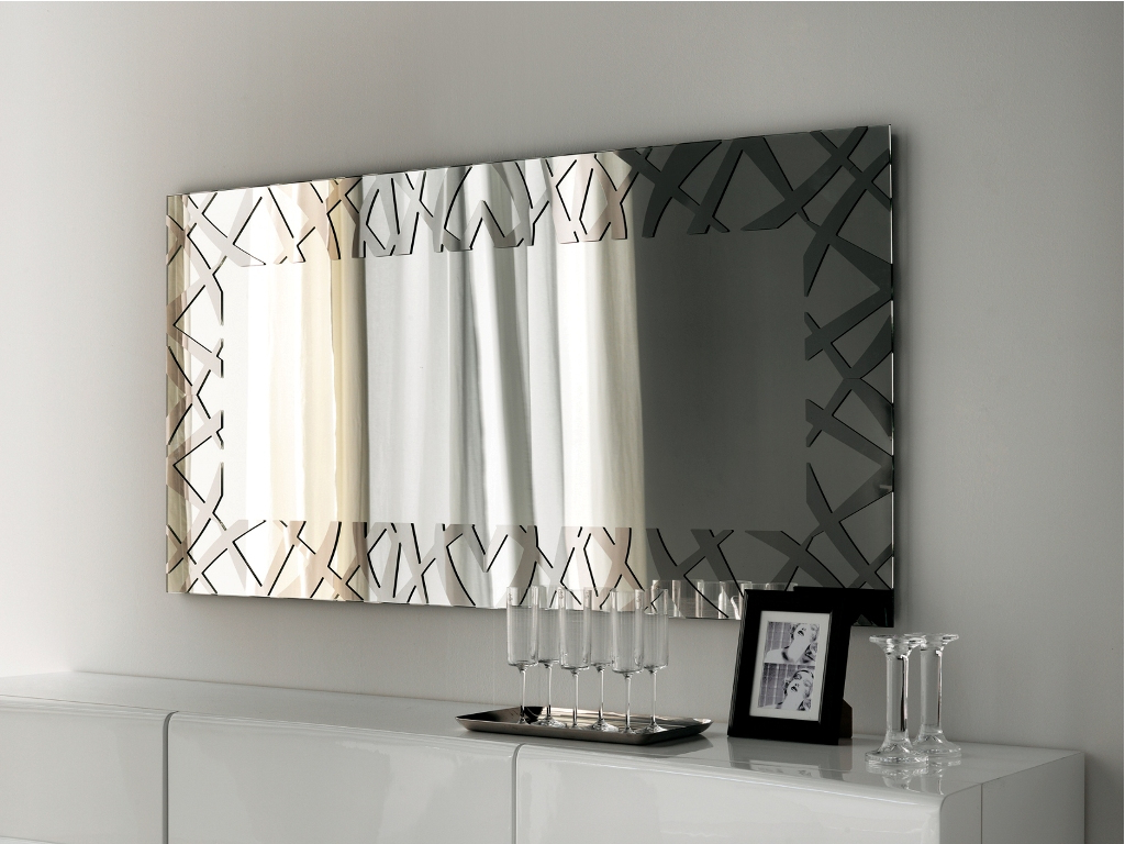 Full Length Wall Mirrors : Modern Decorative Wall Mirrors As In Newest Modern Decorative Wall Mirrors (View 4 of 20)