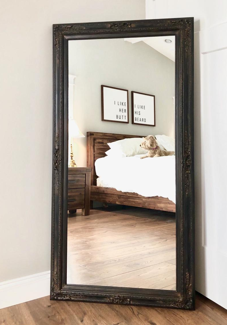 Full Length Wavy Wall Mirrors With Regard To Current Tips: Leaning Mirror For Home Accessories (View 6 of 20)