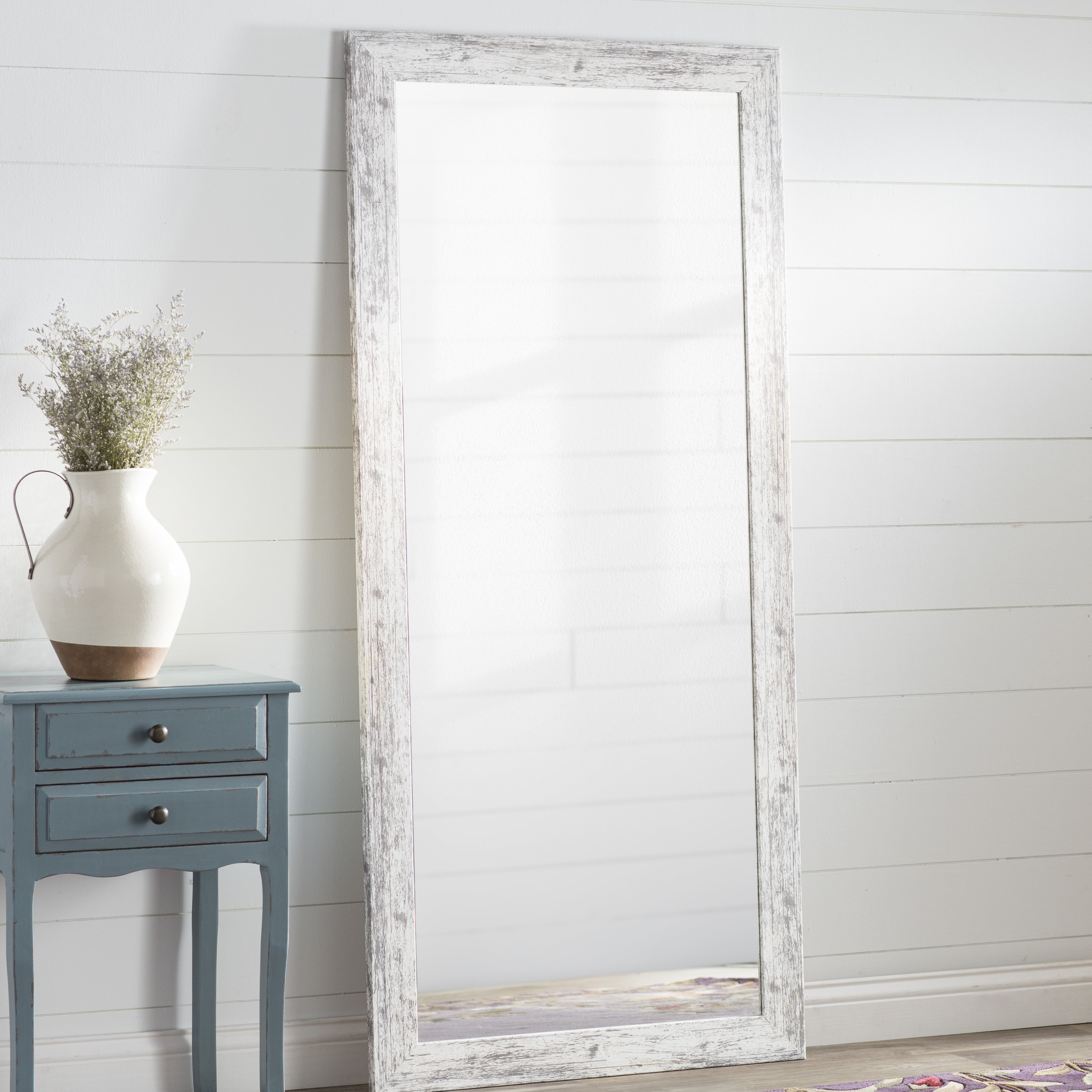 Full Length White Wall Mirrors For Preferred Handcrafted Farmhouse Full Length Mirror (View 5 of 20)