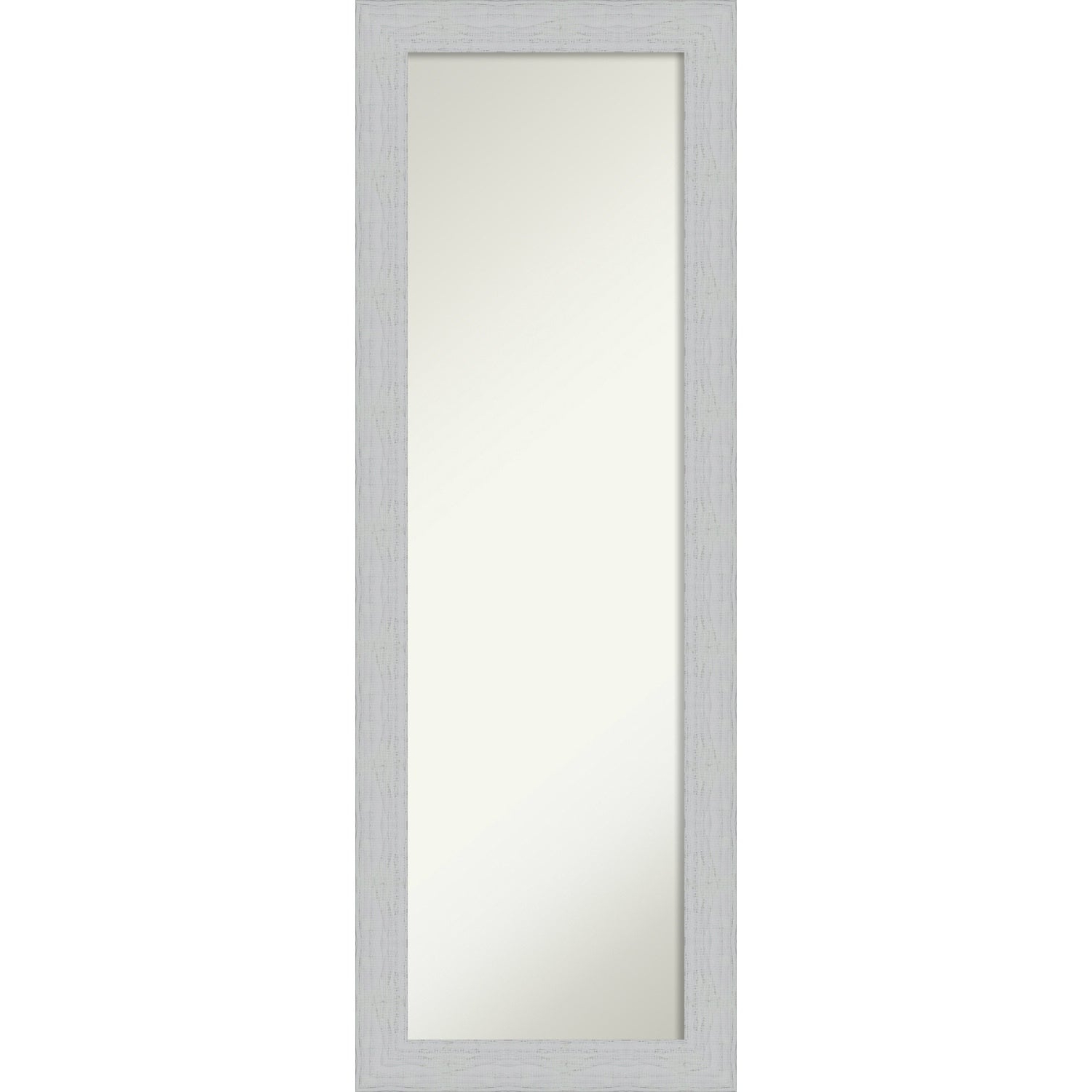 Full Size Wall Mirrors Inside Well Known On The Door Full Length Wall Mirror, Shiplap White: Outer Size 18 X 52 Inch (View 3 of 20)