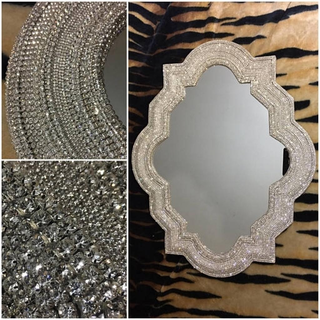 Gallery Rhinestone Wall Mirror Of Brilliant Expensive Mirrors Within 2019 Expensive Wall Mirrors (View 5 of 20)
