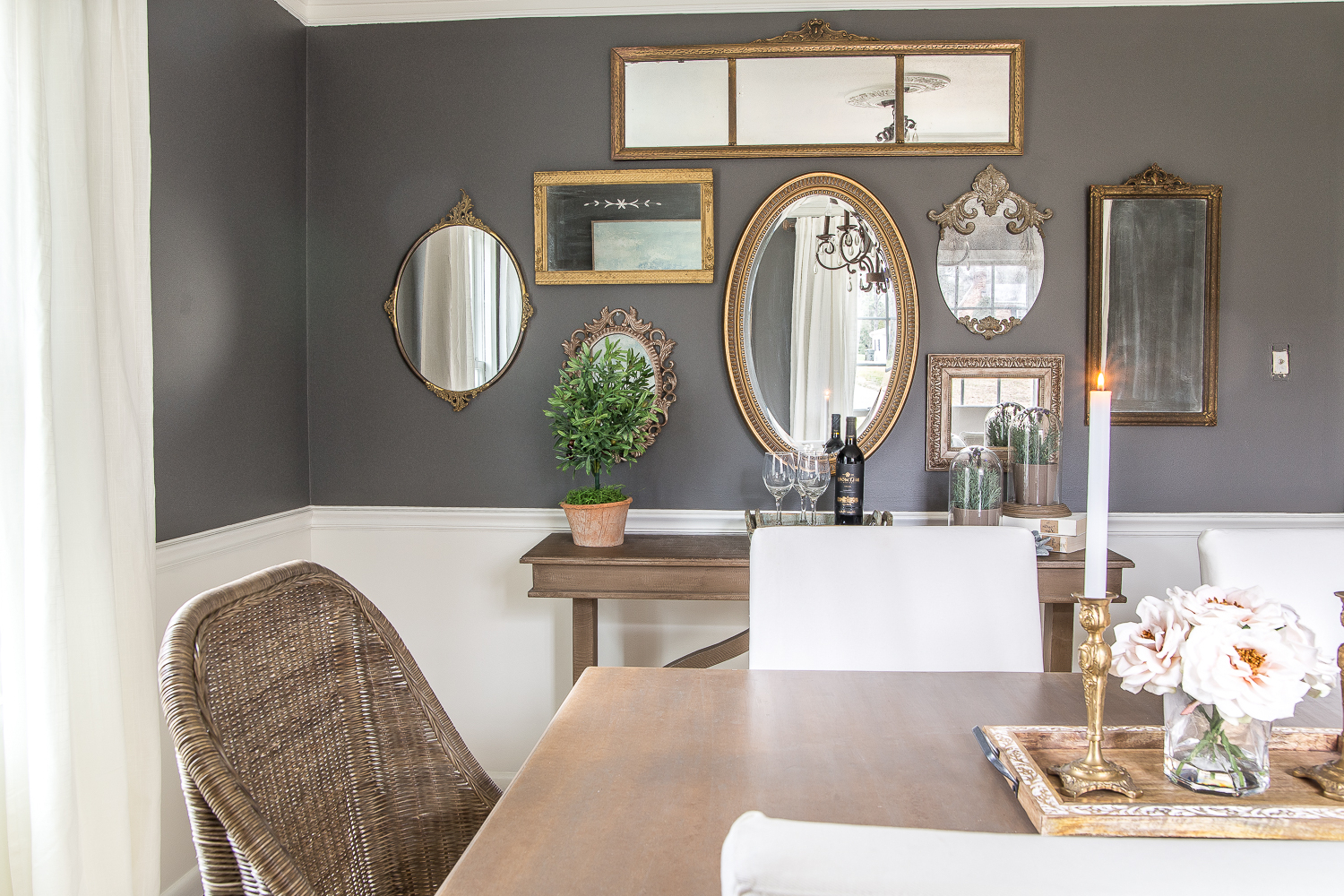Gallery Wall Mirrors With Famous Mirror Gallery Wall From Thrifted Frames – Bless'er House (View 3 of 20)