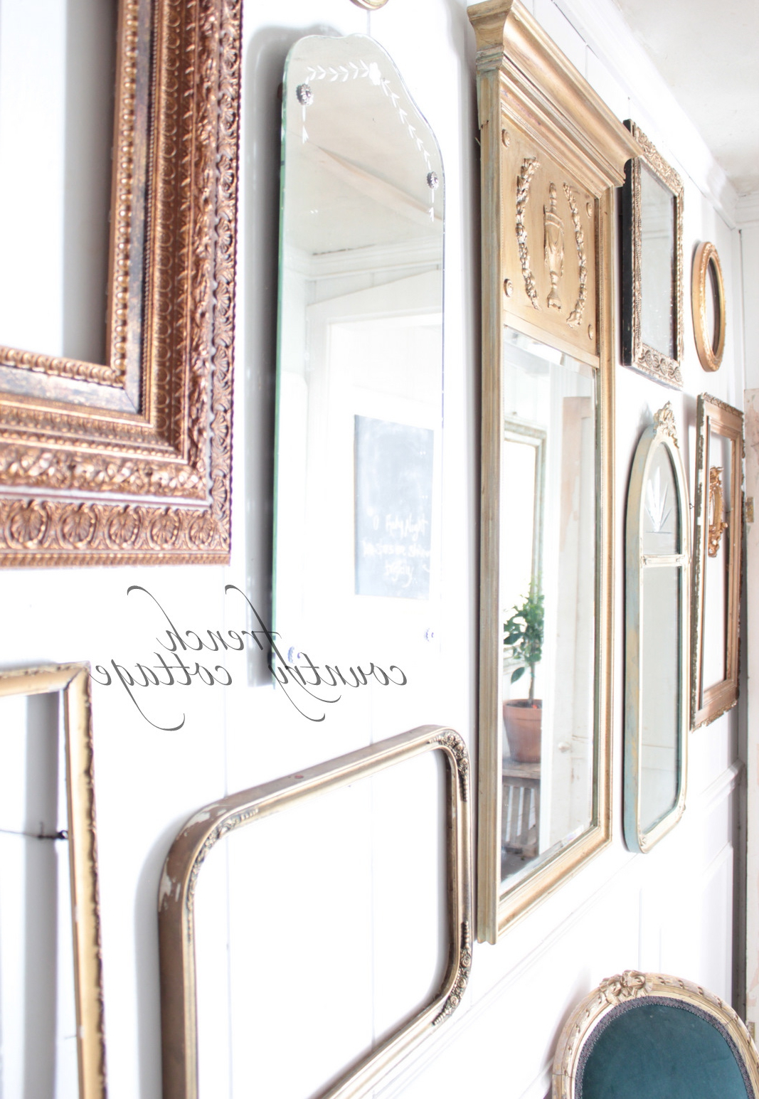 Gallery Wall Of Frames & Mirrors – French Country Cottage Intended For 2020 Gallery Wall Mirrors (View 19 of 20)