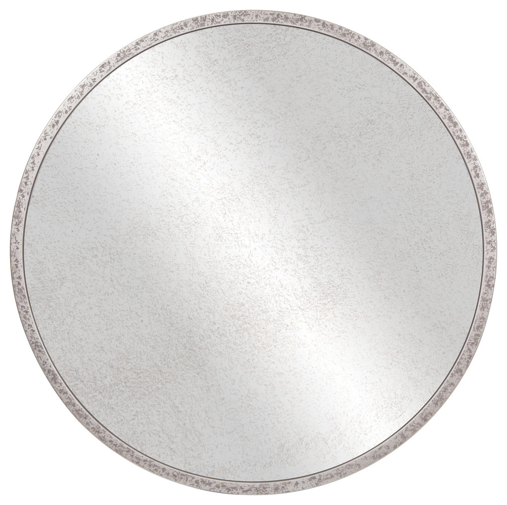 "Galvanized Metal Round Antiqued Wall Mirror, 30"" Intended For Recent Round Galvanized Metallic Wall Mirrors (View 14 of 20)"