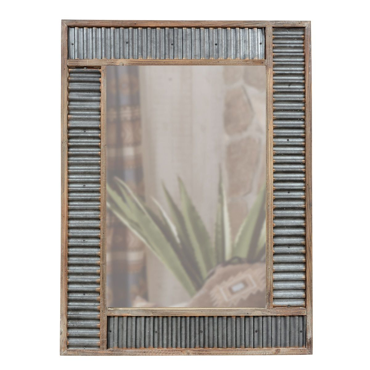Galvanized Metal Wall Mirror Throughout Trendy Star Wall Mirrors (View 11 of 20)