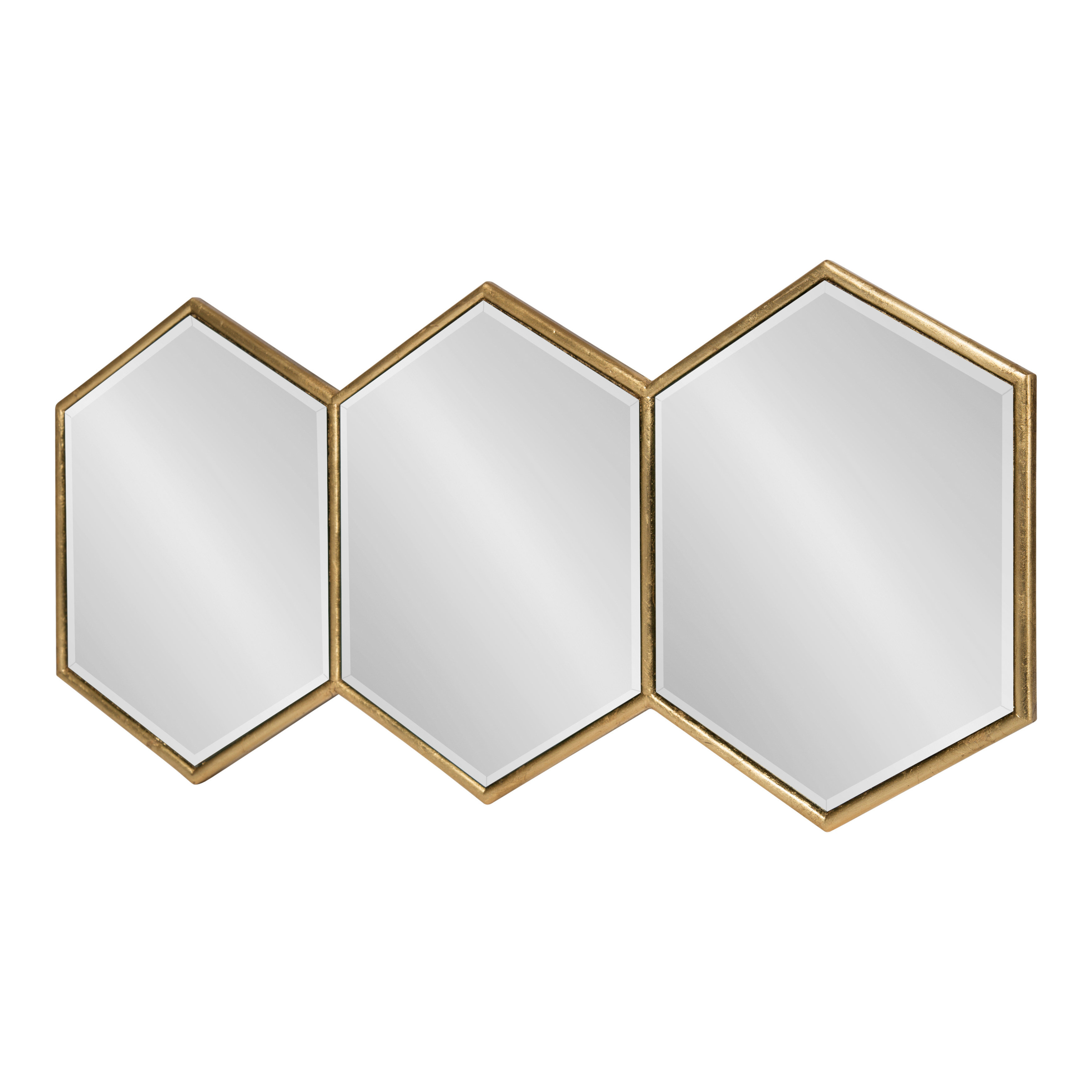 Ganya Hexagon Trio Wall Mirror Intended For Most Recently Released Hexagon Wall Mirrors (View 3 of 20)