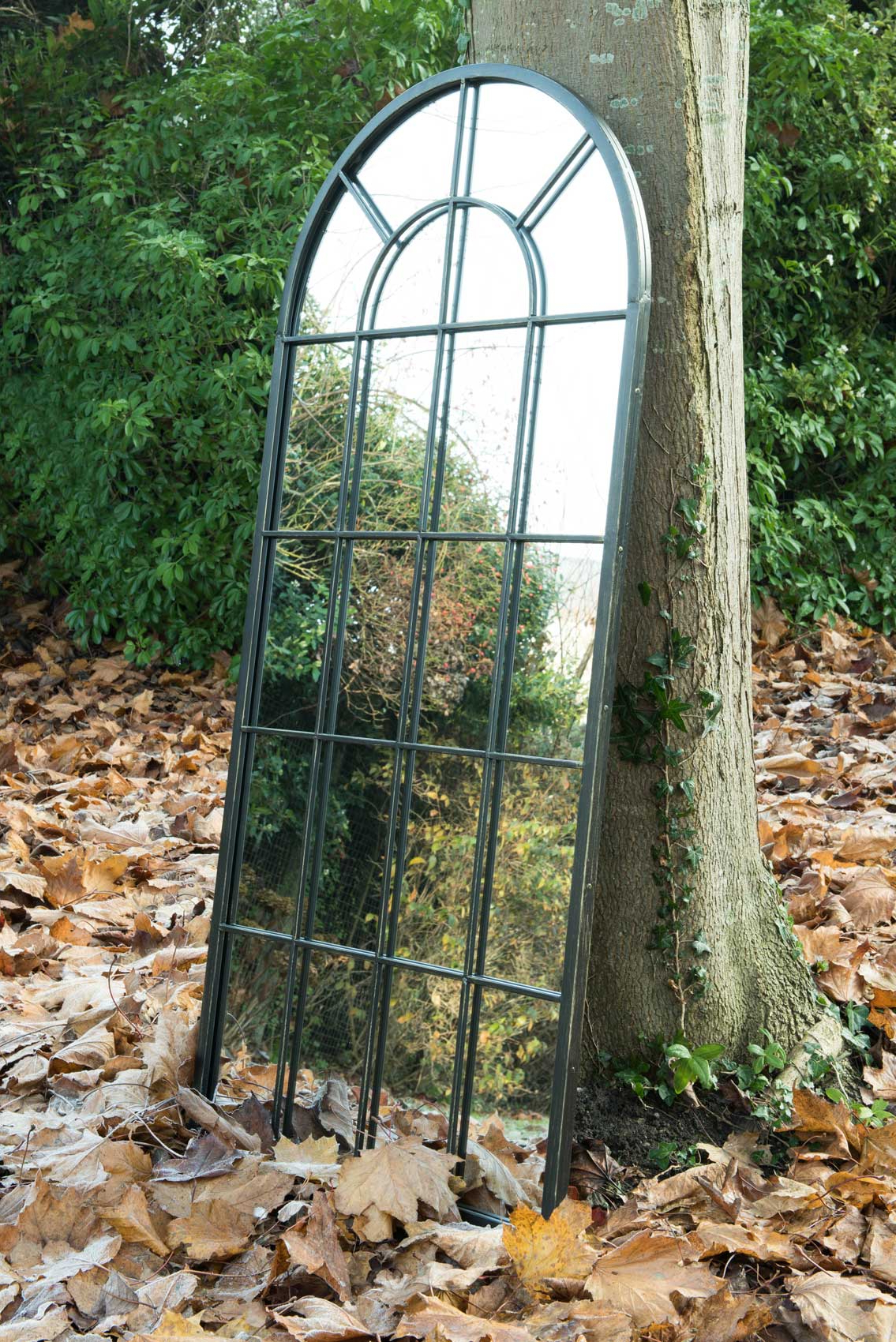 Garden Wall Mirrors Pertaining To Recent Honiton Black Victorian Indoor Outdoor Garden Wall Mirror 140x65 Cm (View 10 of 20)