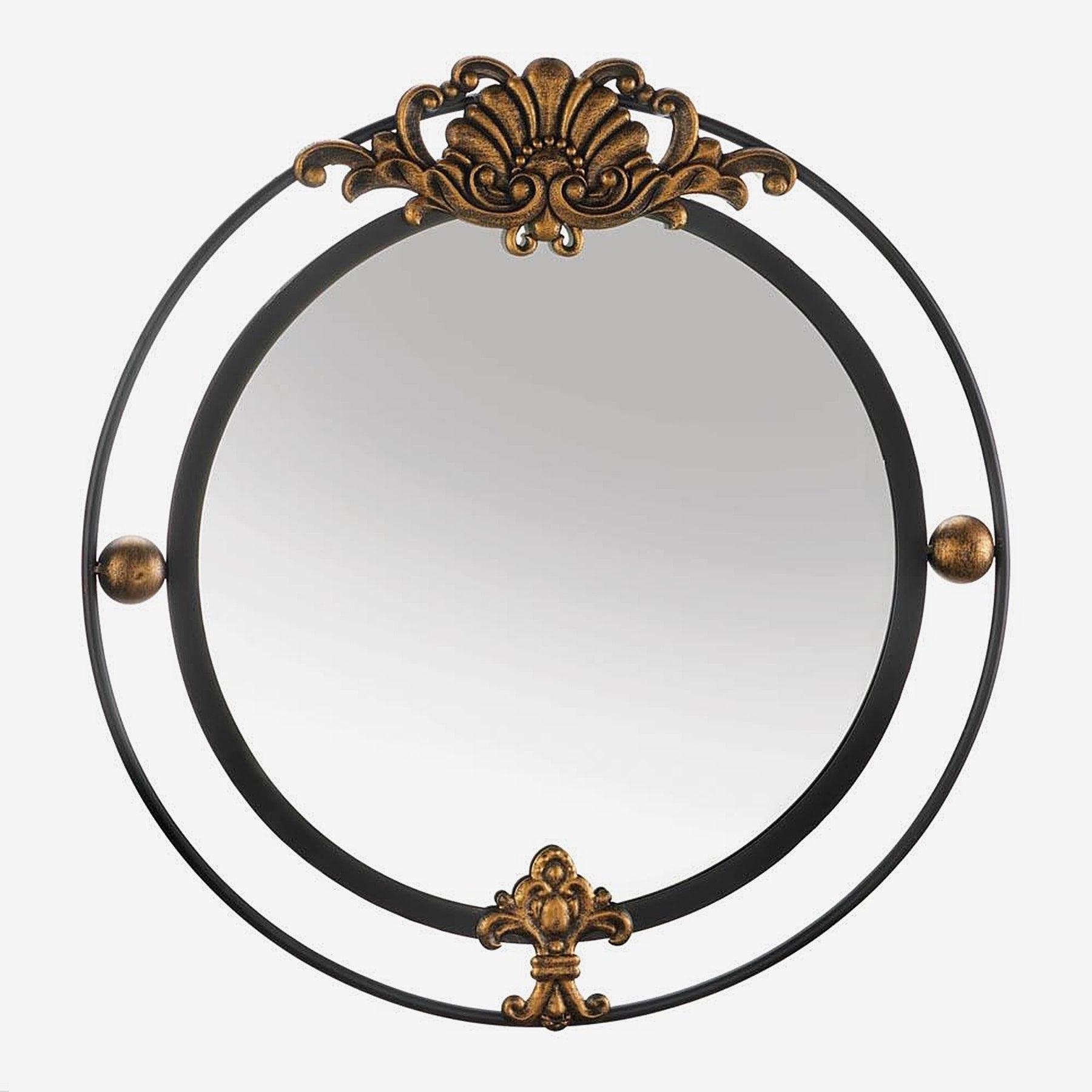 Garfield Decorative Round Wall Mirror – Black/gold Throughout Most Current Decorative Round Wall Mirrors (View 17 of 20)
