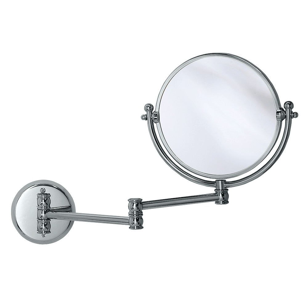 Gatco 1411 7 1/2 Diameter Swinging Adjustable Wall Mirror With 3X  Magnification Regarding Newest Adjustable Wall Mirrors (View 12 of 20)