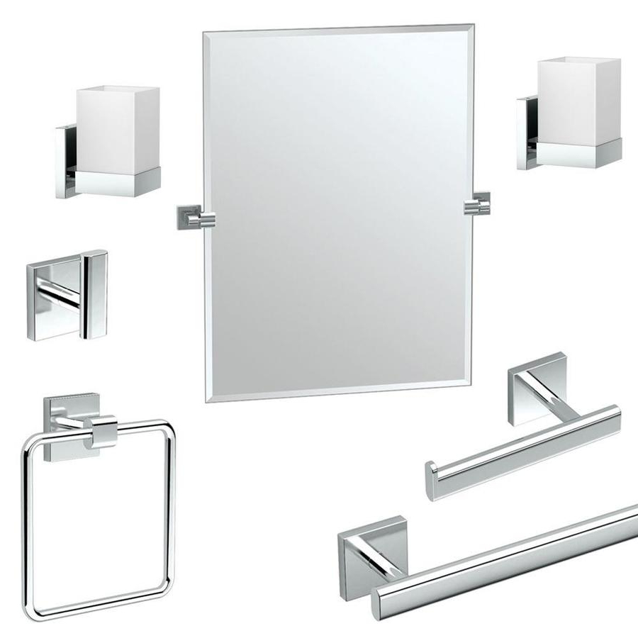 Gatco Gatco Ka Ele 7 Pc Elevate 7 Piece Bathroom Accessory With Recent Elevate Wall Mirrors (Gallery 10 of 20)