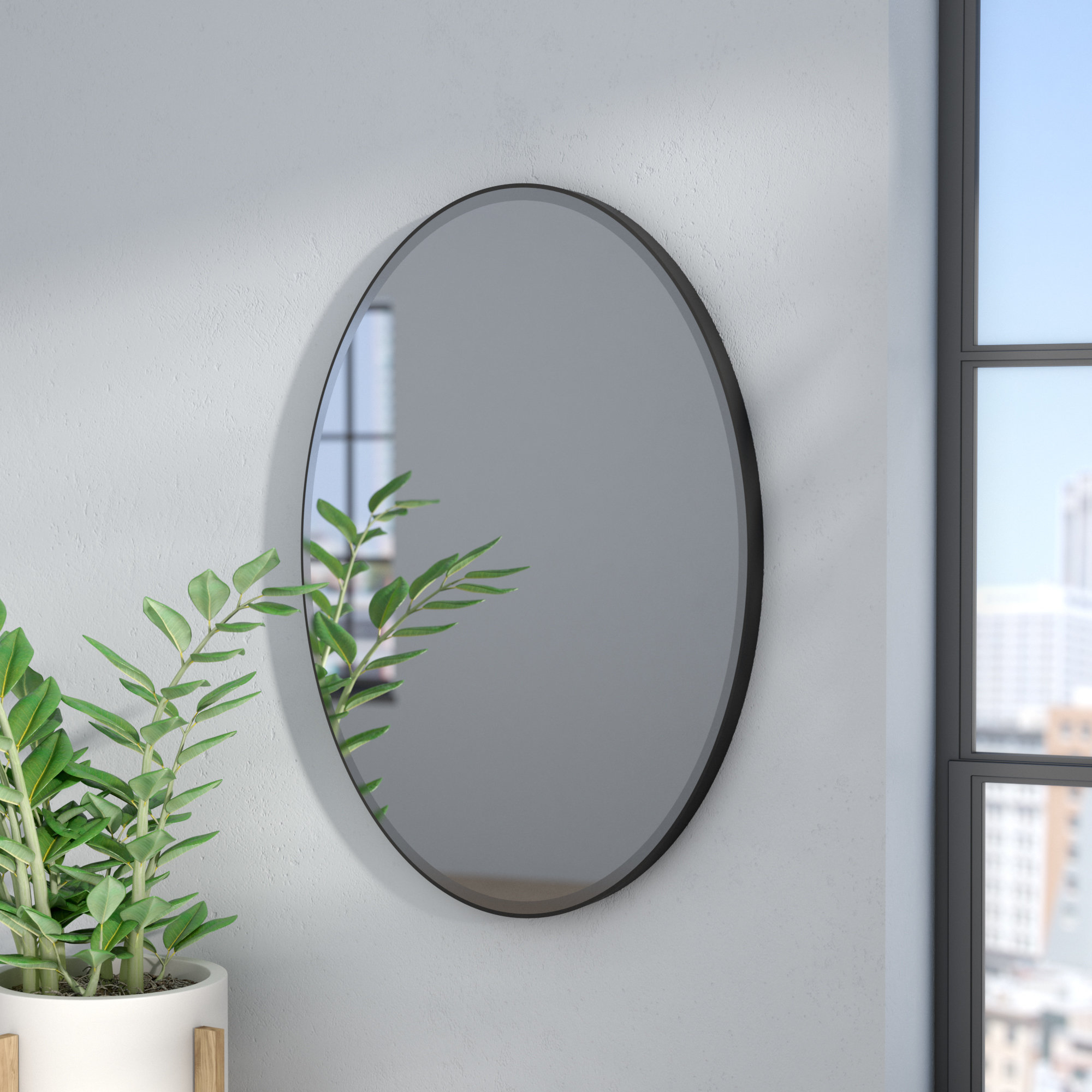 Gaunts Earthcott Modern & Contemporary Beveled Accent Mirrors Intended For Widely Used Luna Accent Mirror (View 8 of 20)