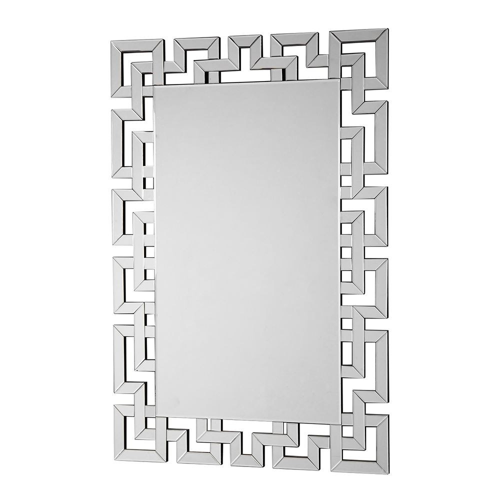 Geometric Wall Mirrors Pertaining To Well Known Houseology Kensington Collection Gisel Geometric Wall Mirror (View 11 of 20)
