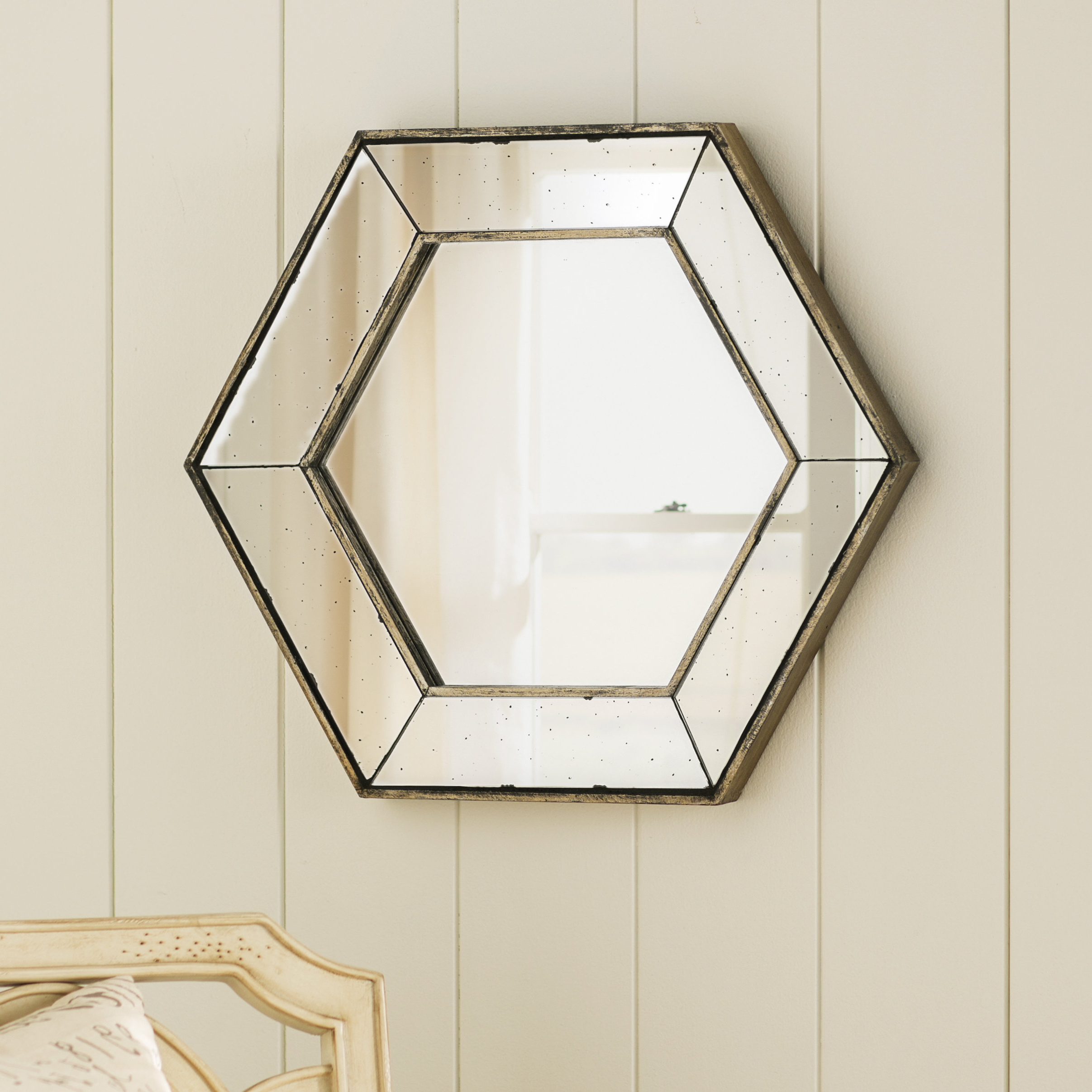 Gia Hexagon Wall Accent Mirror Throughout Well Known Gia Hexagon Accent Mirrors (View 8 of 20)