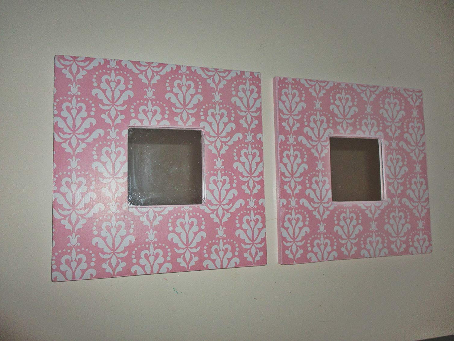 Girls Pink Wall Mirrors Intended For Most Recently Released Amazon: Small Wall Mirrors, Nursery Room, Childrens Room, Pink (View 14 of 20)