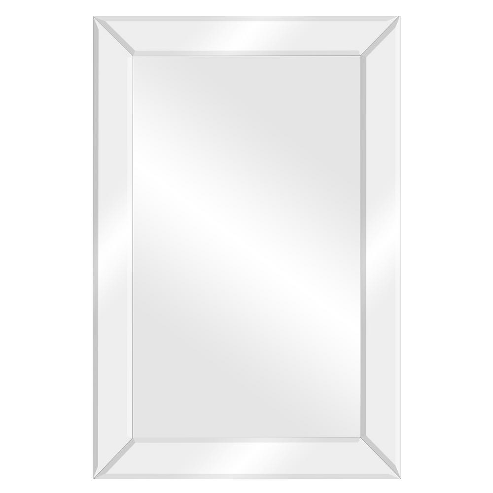 Glam Beveled Accent Mirrors Inside Trendy Pinnacle Beveled Accent Rectangular Silver Decorative Mirror (View 16 of 20)