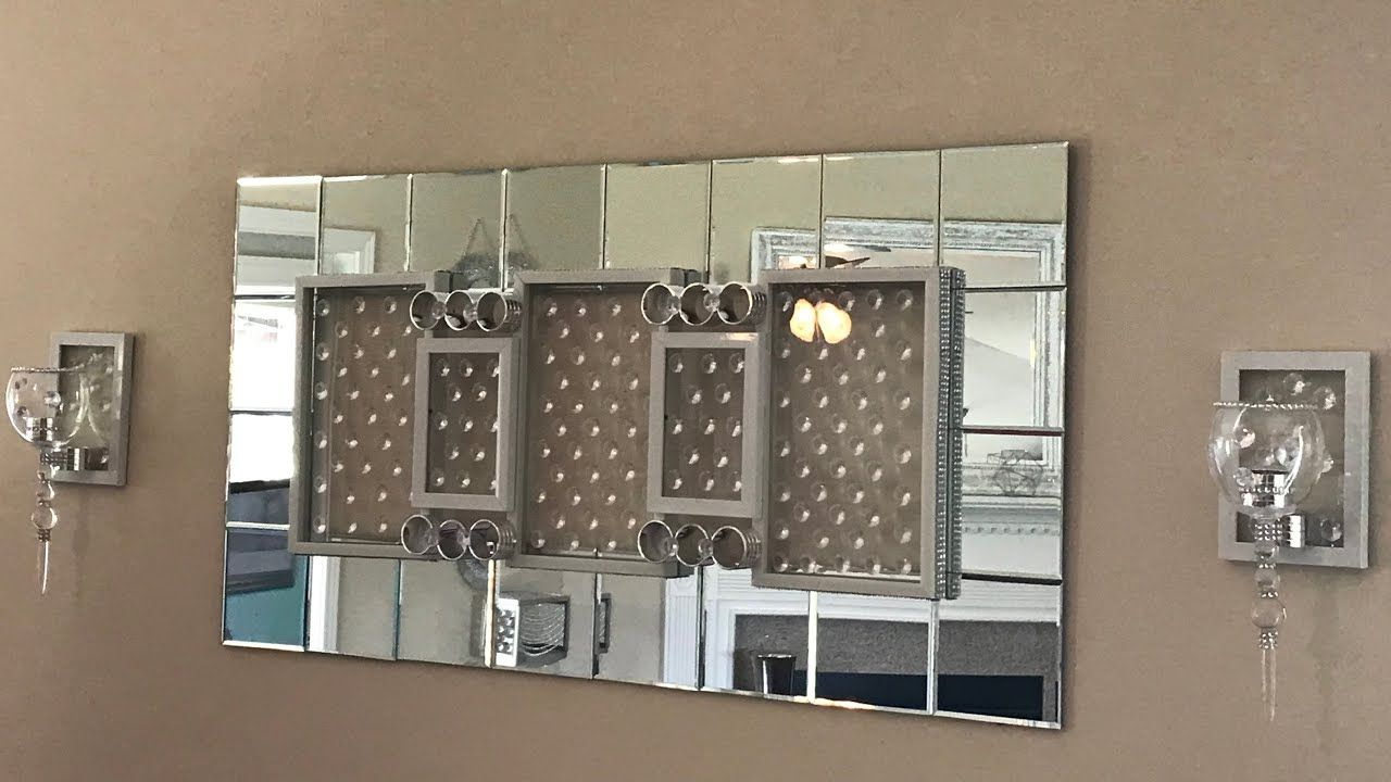 Glam Wall Mirror And Sconces – Youtube (View 9 of 20)