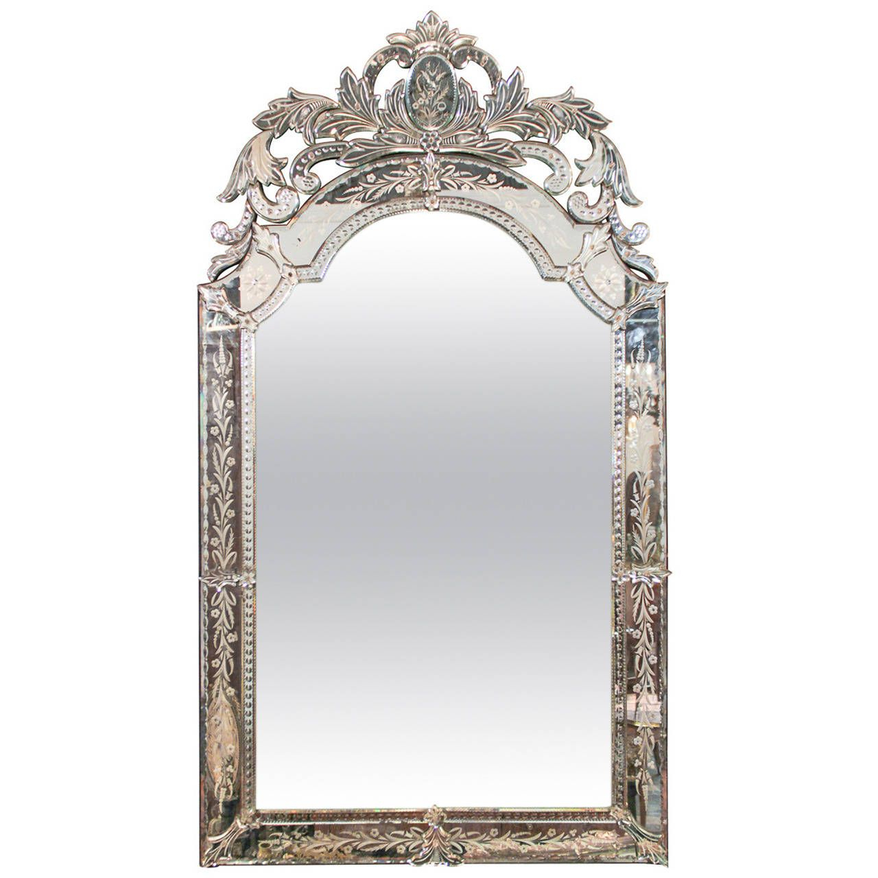 Glass Etching, Mirror, Vintage Mirrors (View 16 of 20)
