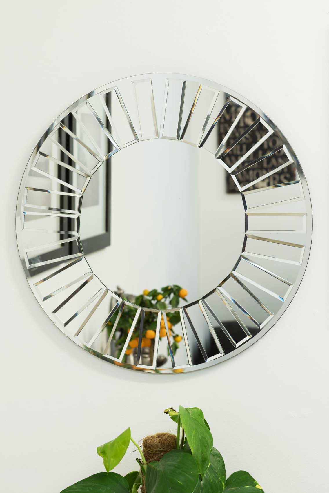 Glass Wall Mirrors With Regard To Current Contemporary Round Glass Wall Mirror 61X61Cm (View 19 of 20)