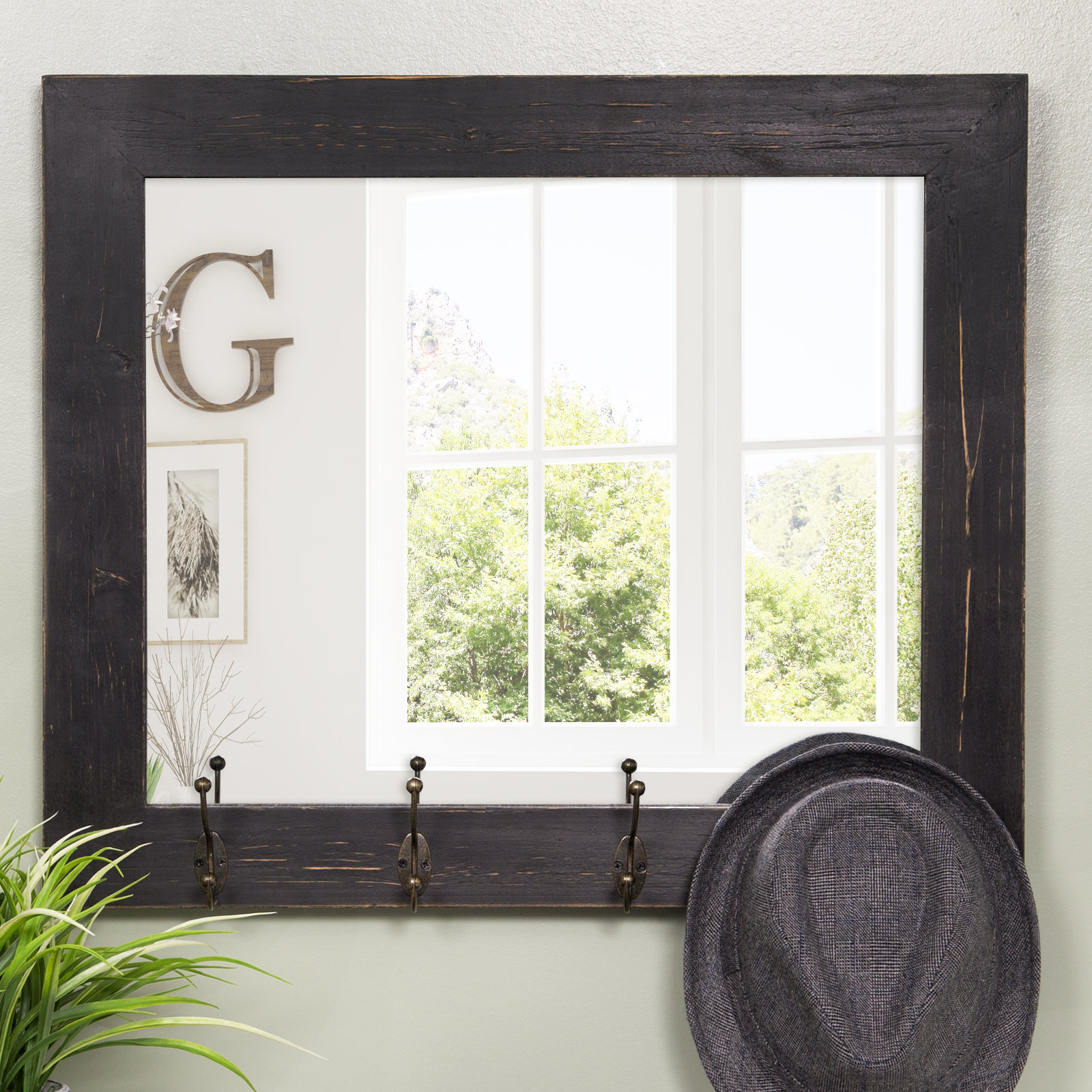 Glaucia Rustic Entryway Accent Mirror With Recent Austin Industrial Accent Mirrors (View 10 of 20)