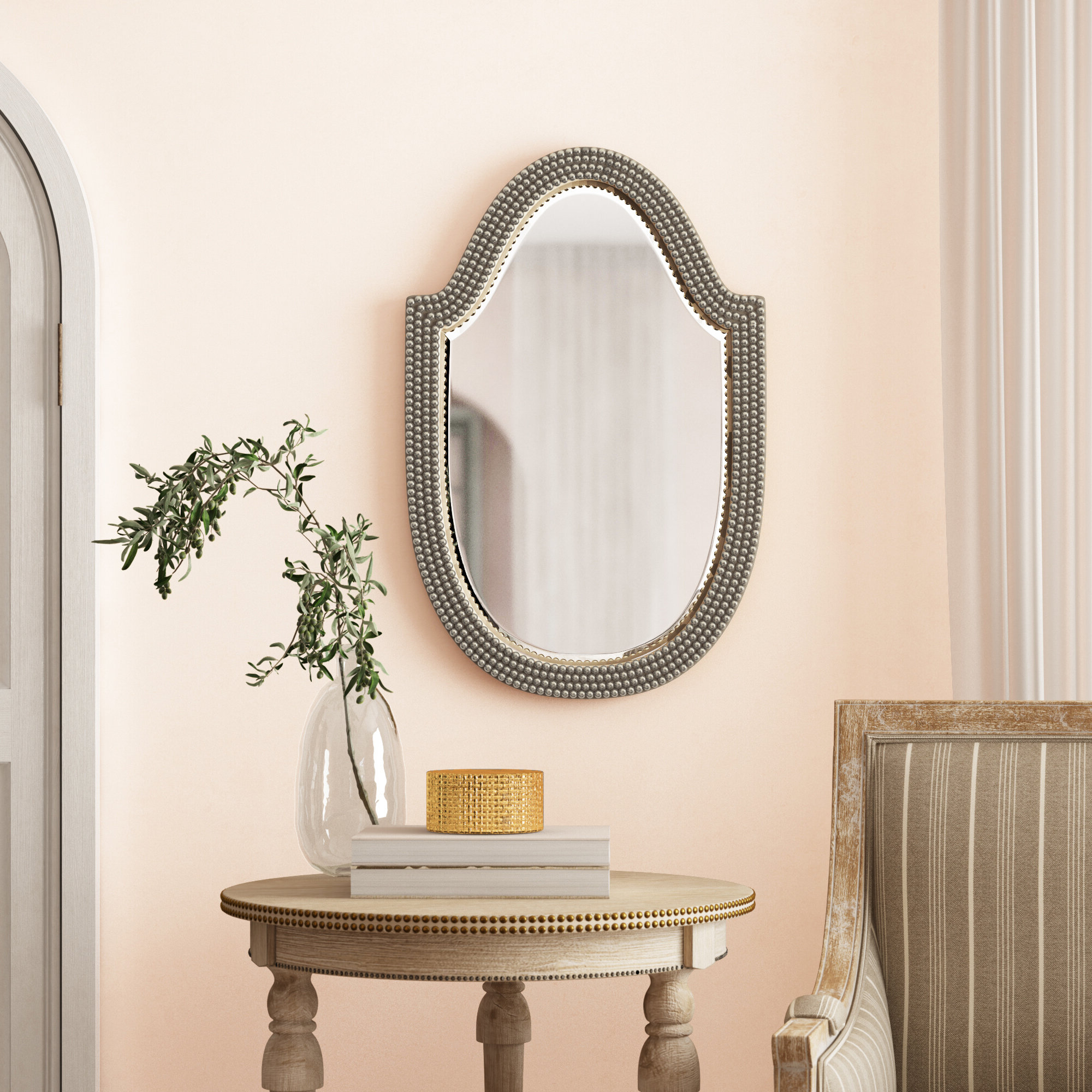 Glen View Beaded Oval Traditional Accent Mirrors Inside Popular Accent Mirror (View 7 of 20)