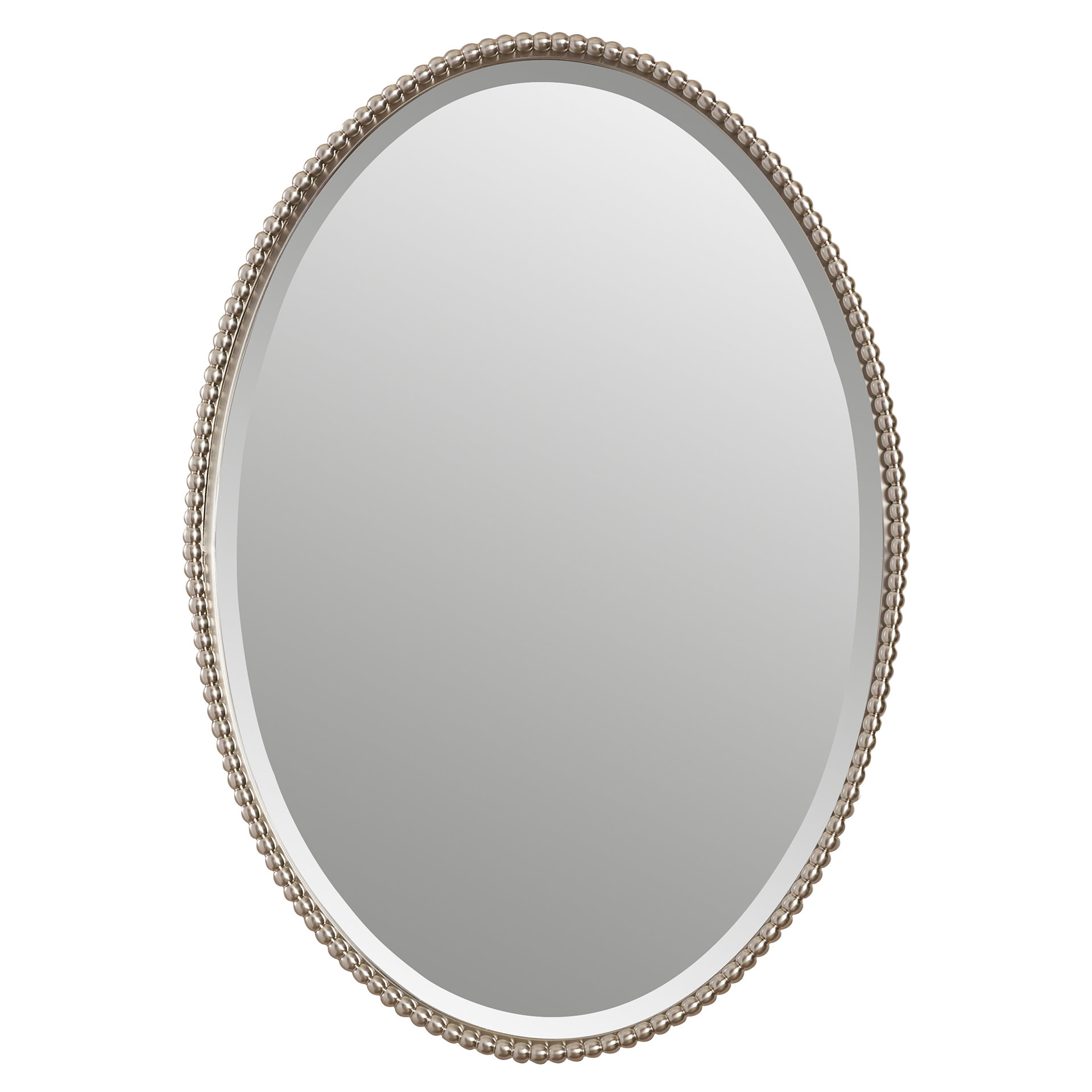 Glen View Beaded Oval Traditional Accent Mirrors Intended For Newest Glen View Beaded Oval Traditional Accent Mirror (View 8 of 20)