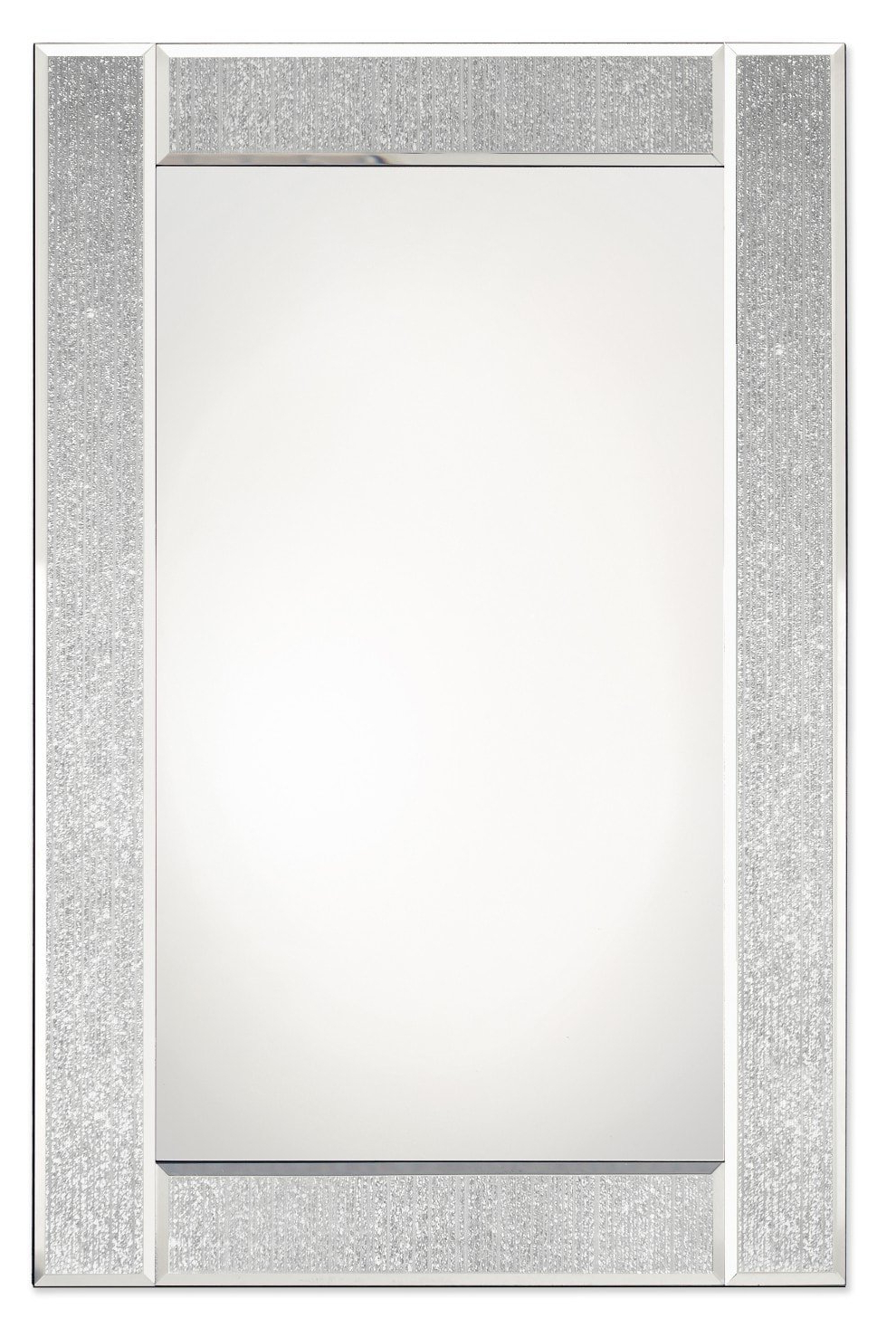 Glitter Wall Mirrors Within Most Recent Glitter Ascot Mirror – Silver – 50X75Cm – Glitter Wall (View 5 of 20)