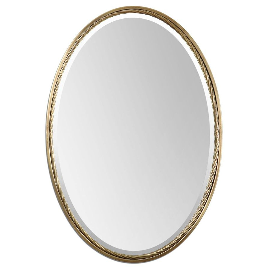 Global Direct Brass Beveled Oval Wall Mirror At Lowes With Regard To Widely Used Small Oval Wall Mirrors (View 11 of 20)