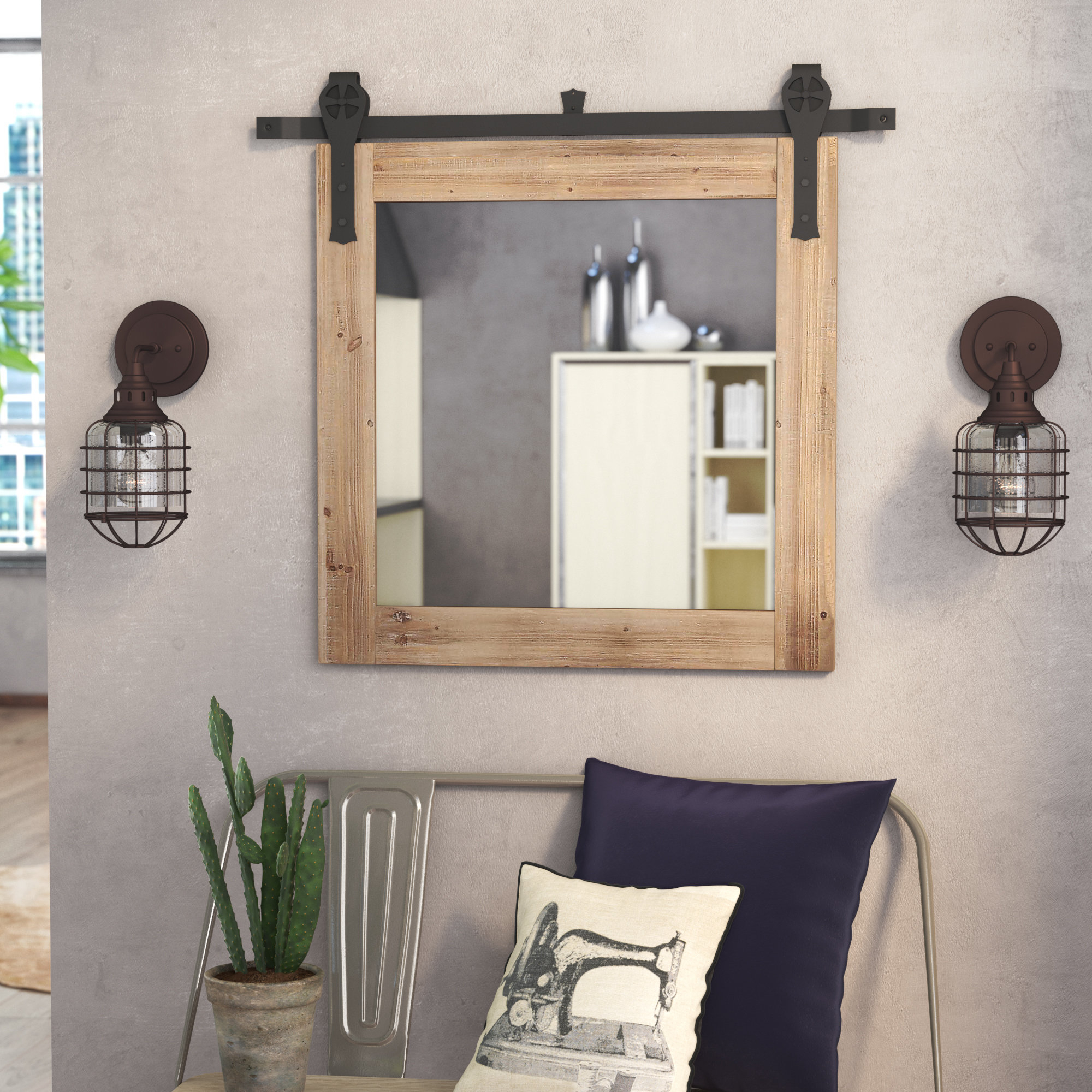 Glynis Wild West Accent Mirrors With Widely Used Berdy Bathroom/vanity Mirror (View 20 of 20)