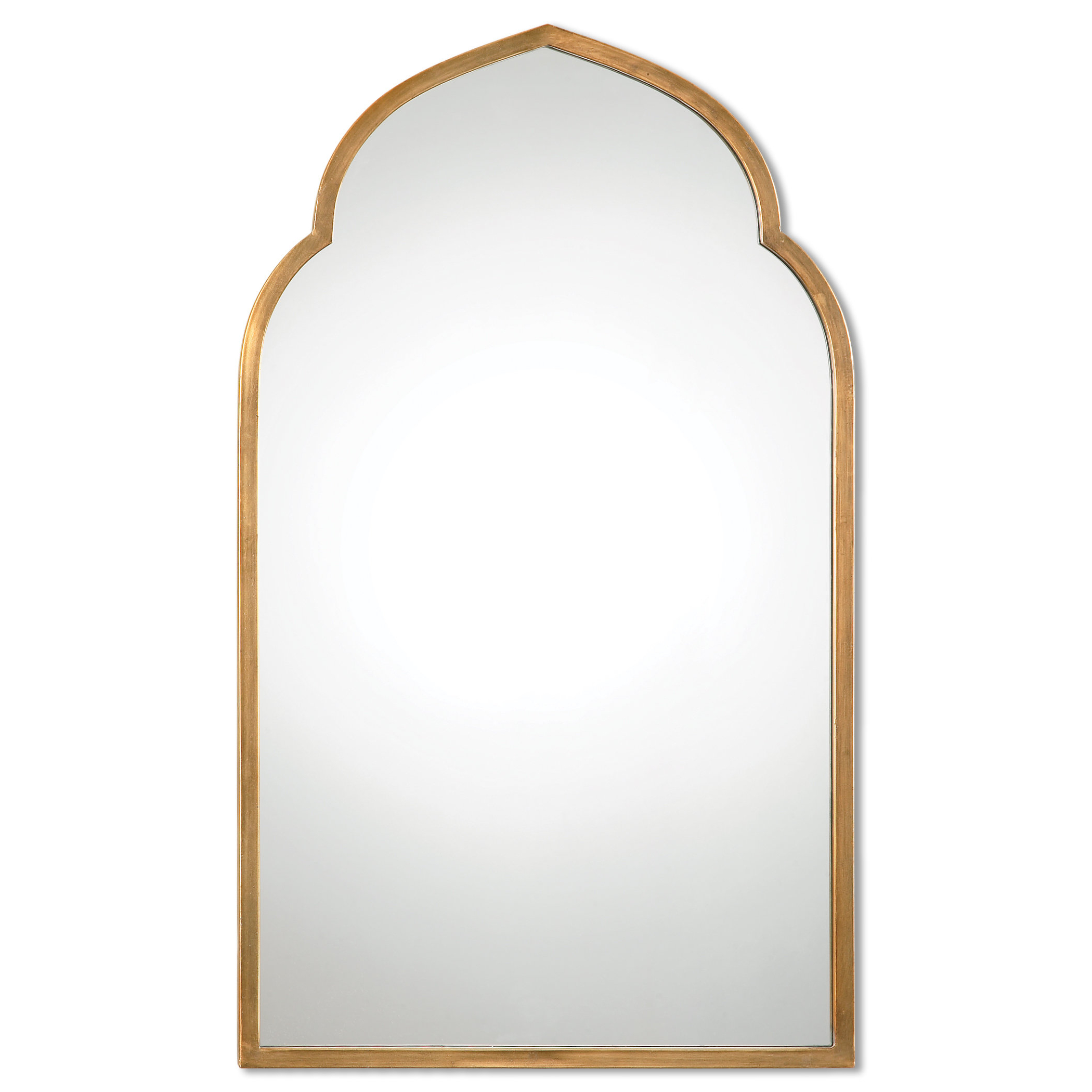 Gold Arch Wall Mirror Within Widely Used Arch Top Vertical Wall Mirrors (Gallery 4 of 20)