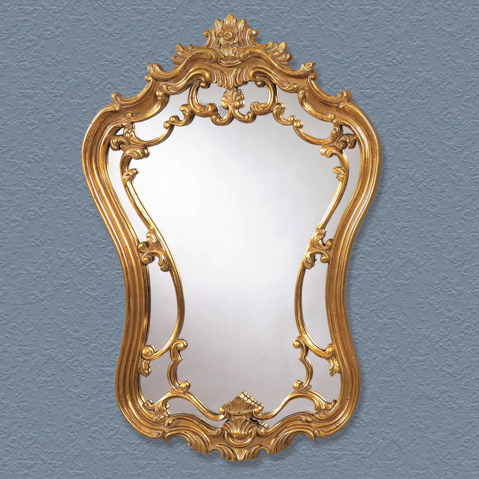 Gold Arch Wall Mirrors Inside Most Recently Released Antique Gold Ornate Arched Wall Mirror – 24w X 35h In (View 19 of 20)