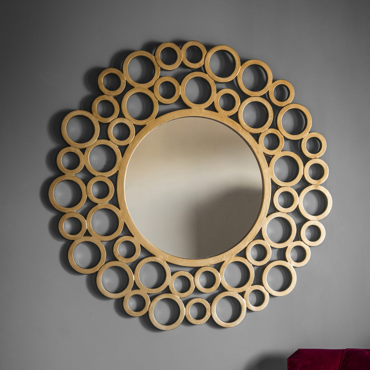 Gold Bubble Wall Mirror Pertaining To Well Liked Bubble Wall Mirrors (View 6 of 20)