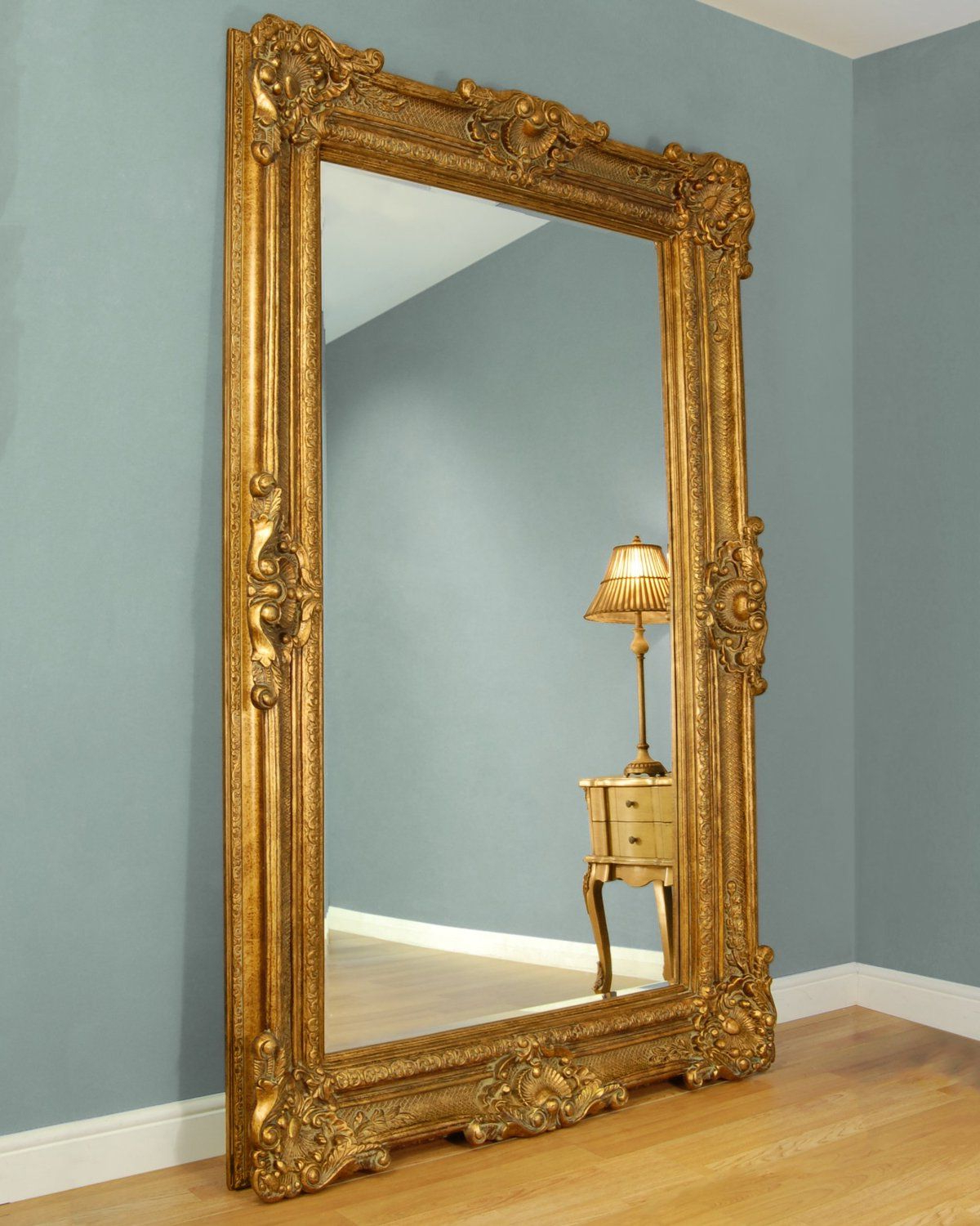 Gold Framed Wall Mirrors Pertaining To Fashionable C&m Bridgewater Large Gold Framed Leaner Mirror (View 6 of 20)