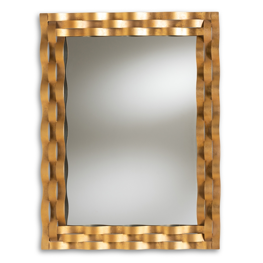 Gold Spiral Universes Wall Mirror With Favorite Wavy Wall Mirrors (View 9 of 20)