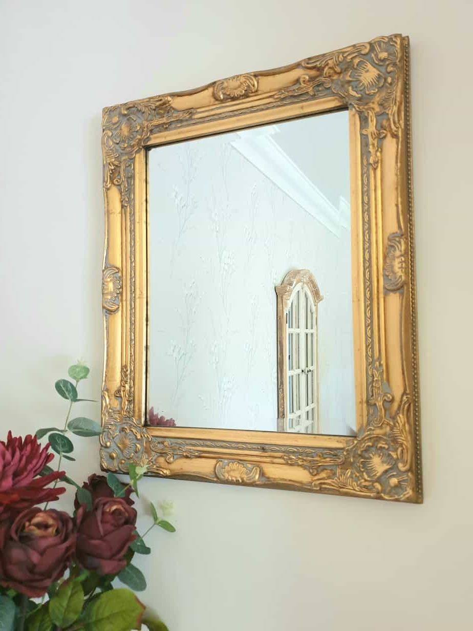 Gold Wall Mirror Ornate Rococo Vanity Baroque Bedroom Hallway Living Room Home Pertaining To Well Liked Hallway Wall Mirrors (View 20 of 20)