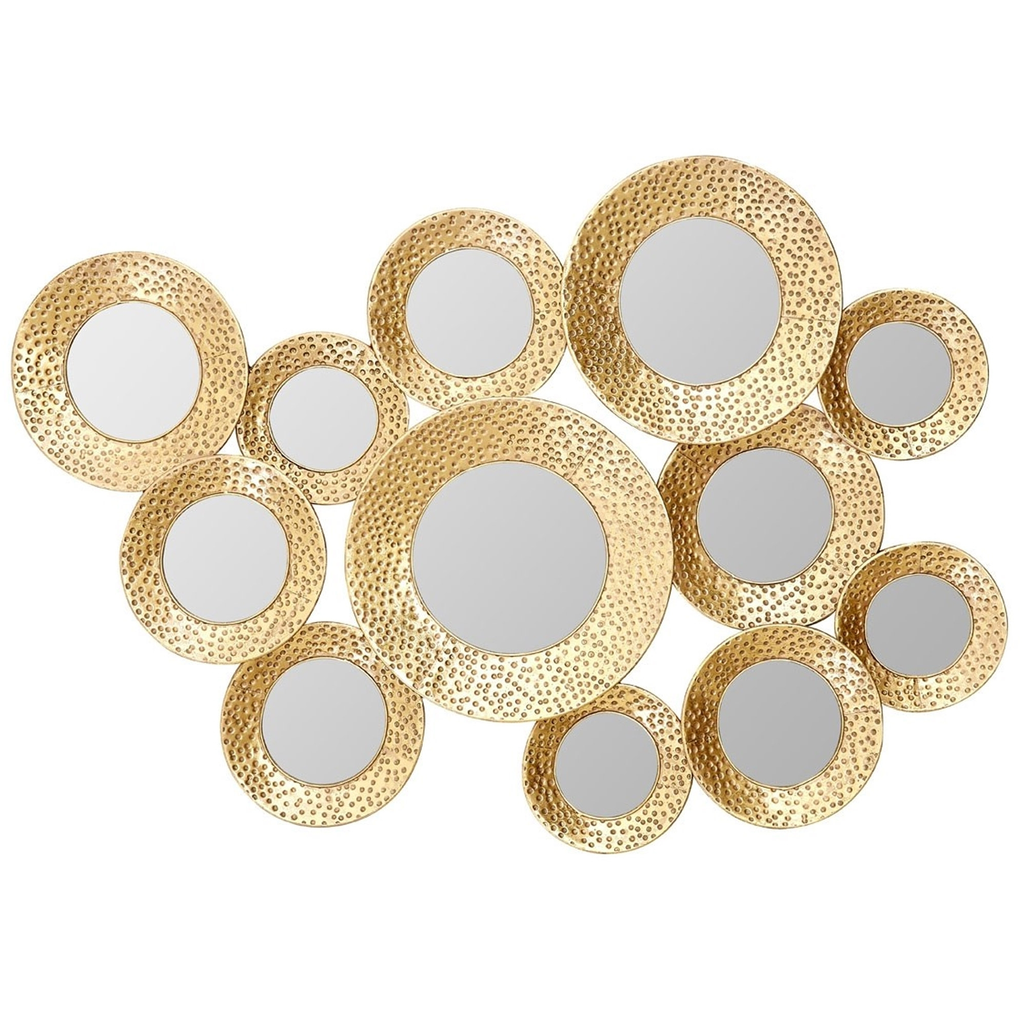Gold Wall Mirrors Within Widely Used Marcia Multi Circle Wall Mirror – Gold (View 2 of 20)