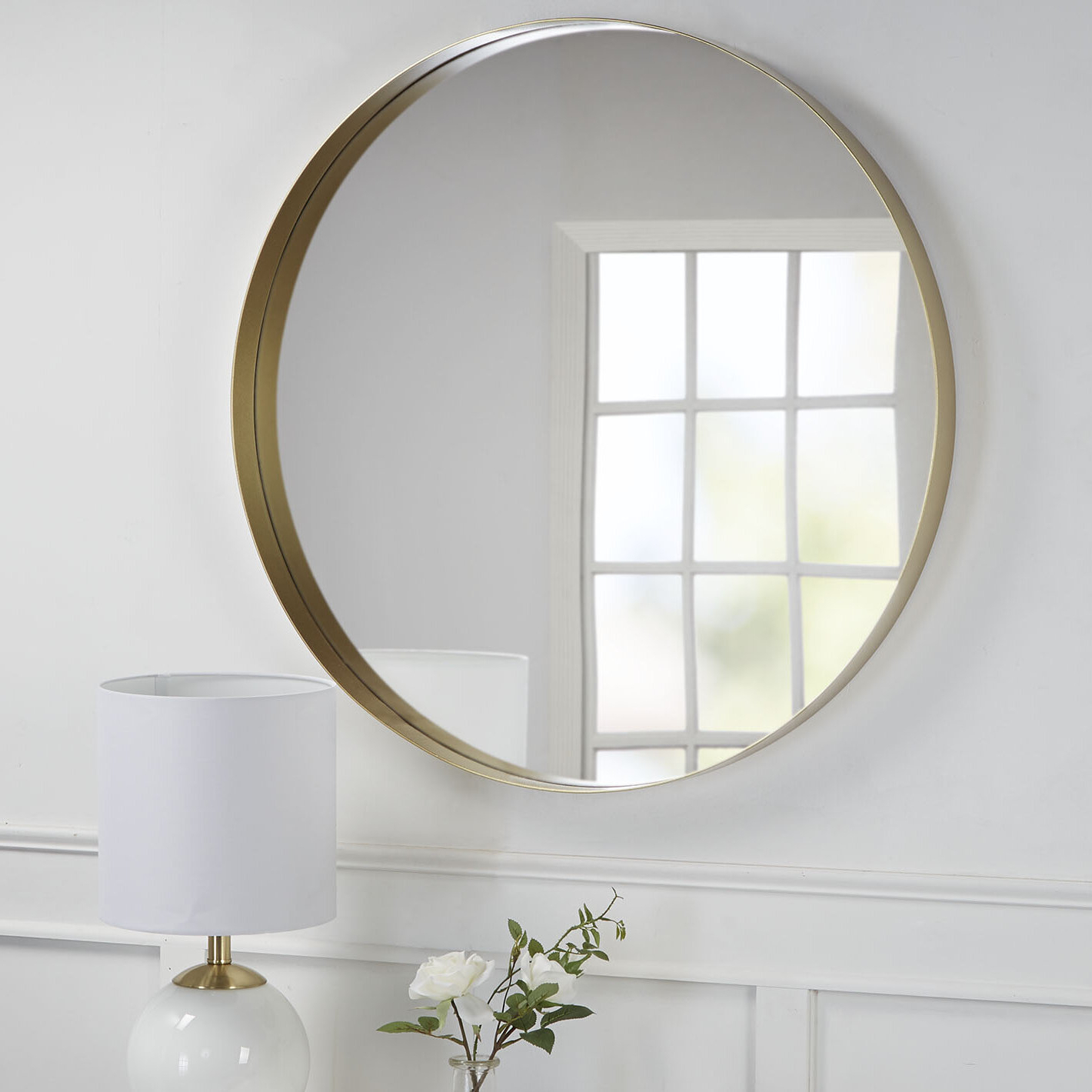Golightly Round Wall Mirror In Latest Circle Wall Mirrors (View 17 of 20)