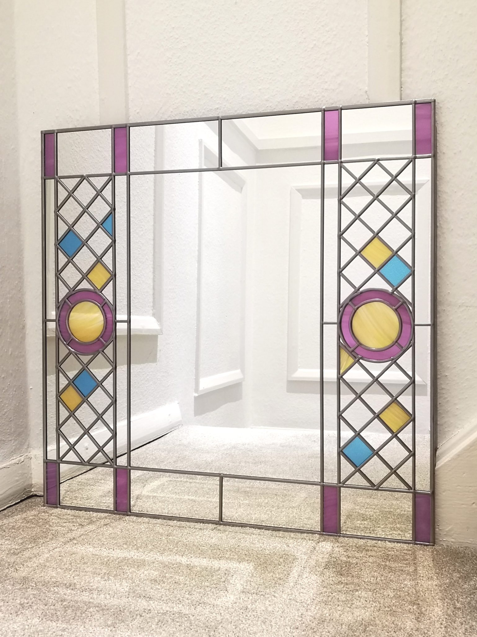 Gorgeous Long Glass Wall Mirror Bevelled Silver Mirrored Decor Large With Regard To Current Mercury Glass Wall Mirrors (View 9 of 20)