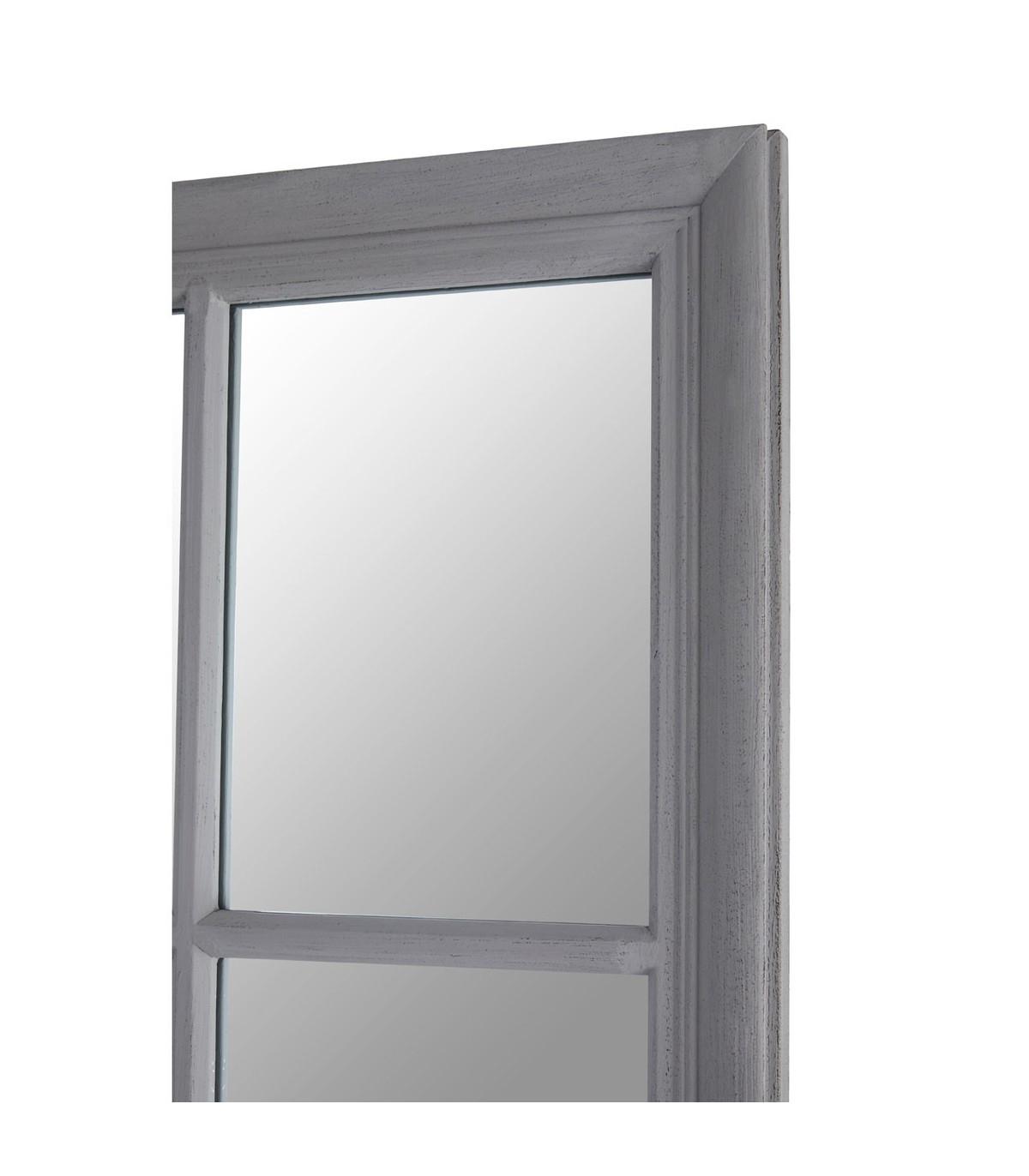 Grey Flat Wood Wall Mirror In Popular Flat Wall Mirrors (View 10 of 20)