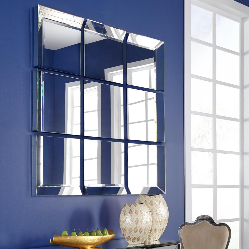 Grid Accent Mirrors Throughout Latest Grid Mirrored Mirror 68075 – The Home Depot (View 10 of 20)