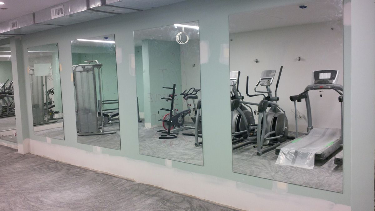 Gym Mirror Wall Within Large Wall Mirrors For Gym (View 2 of 20)