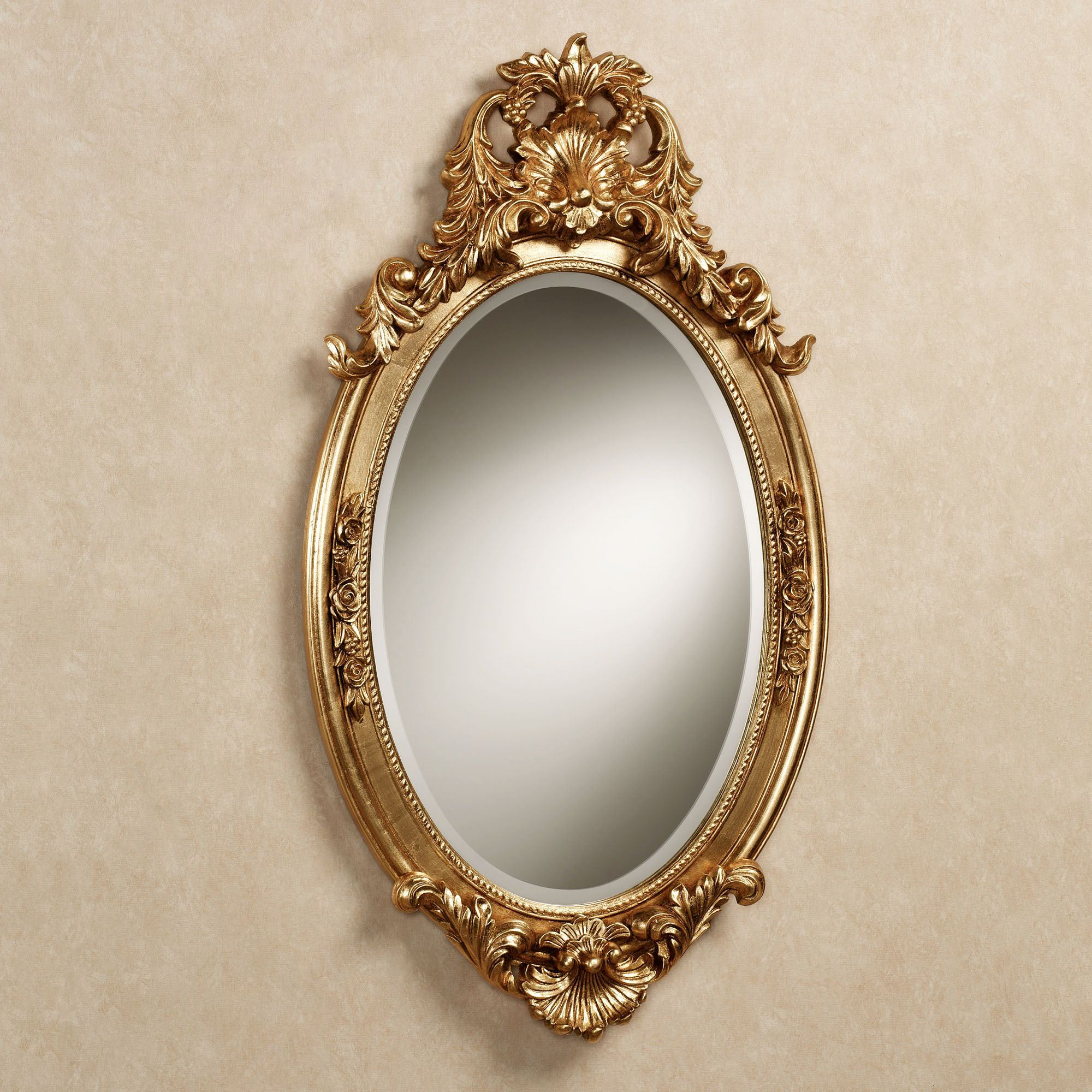 Hallandale Acanthus Leaf Oval Wall Mirror Inside Famous Antique Gold Wall Mirrors (Gallery 6 of 20)
