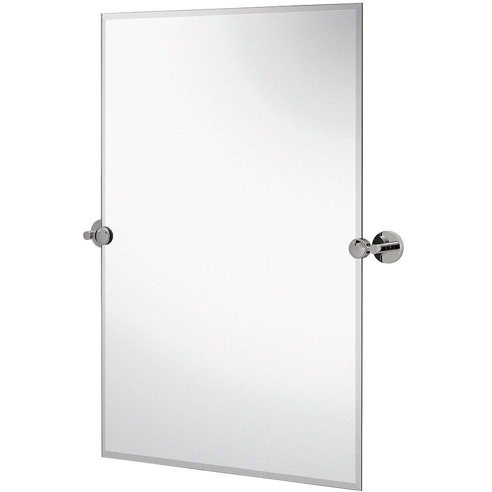 Hamilton Hills Large Pivot Rectangle Mirror With Polished Chrome Wall  Anchors (View 5 of 20)