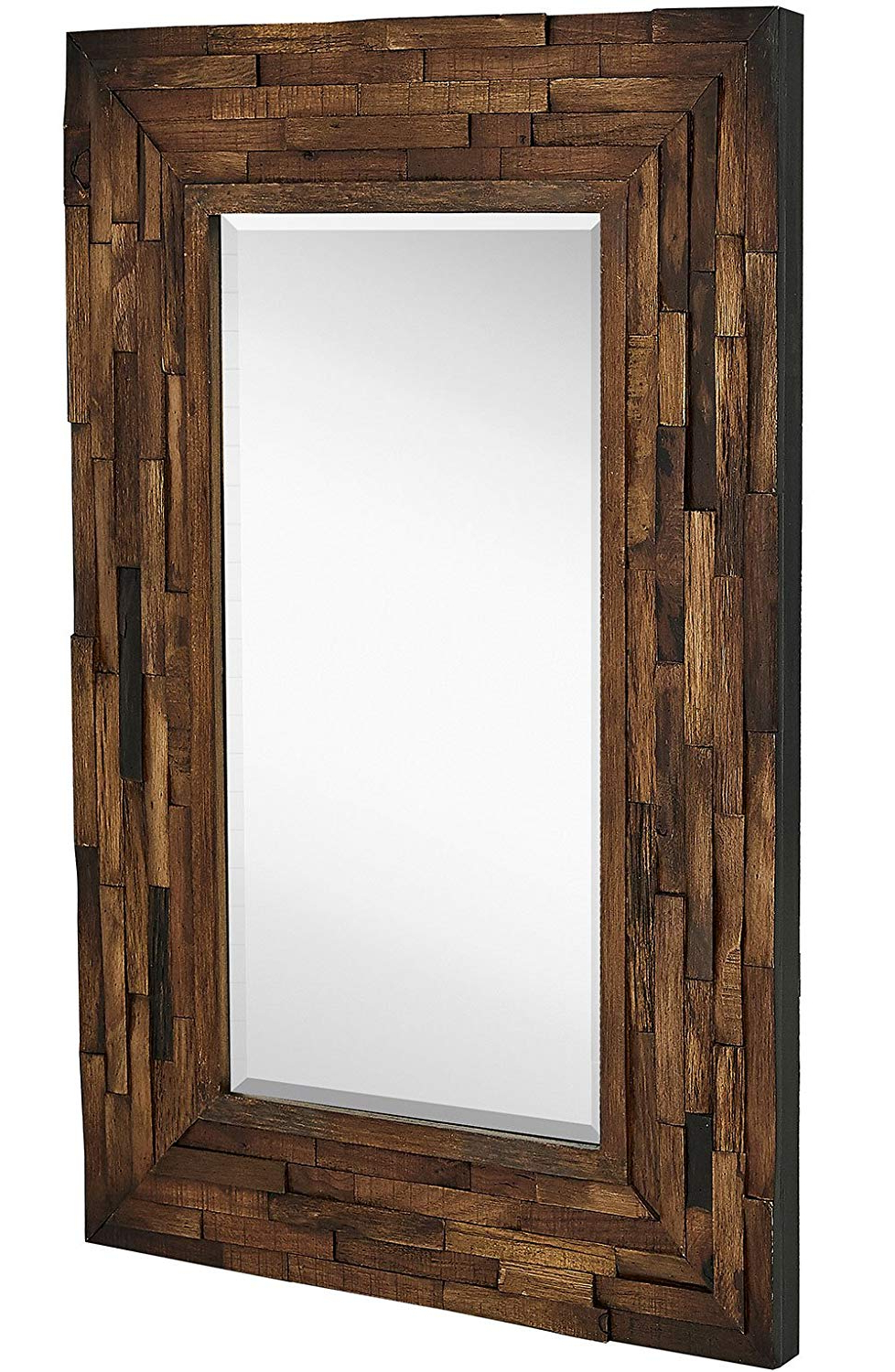 Hamilton Hills Rustic Natural Wood Framed Wall Mirror (View 2 of 20)