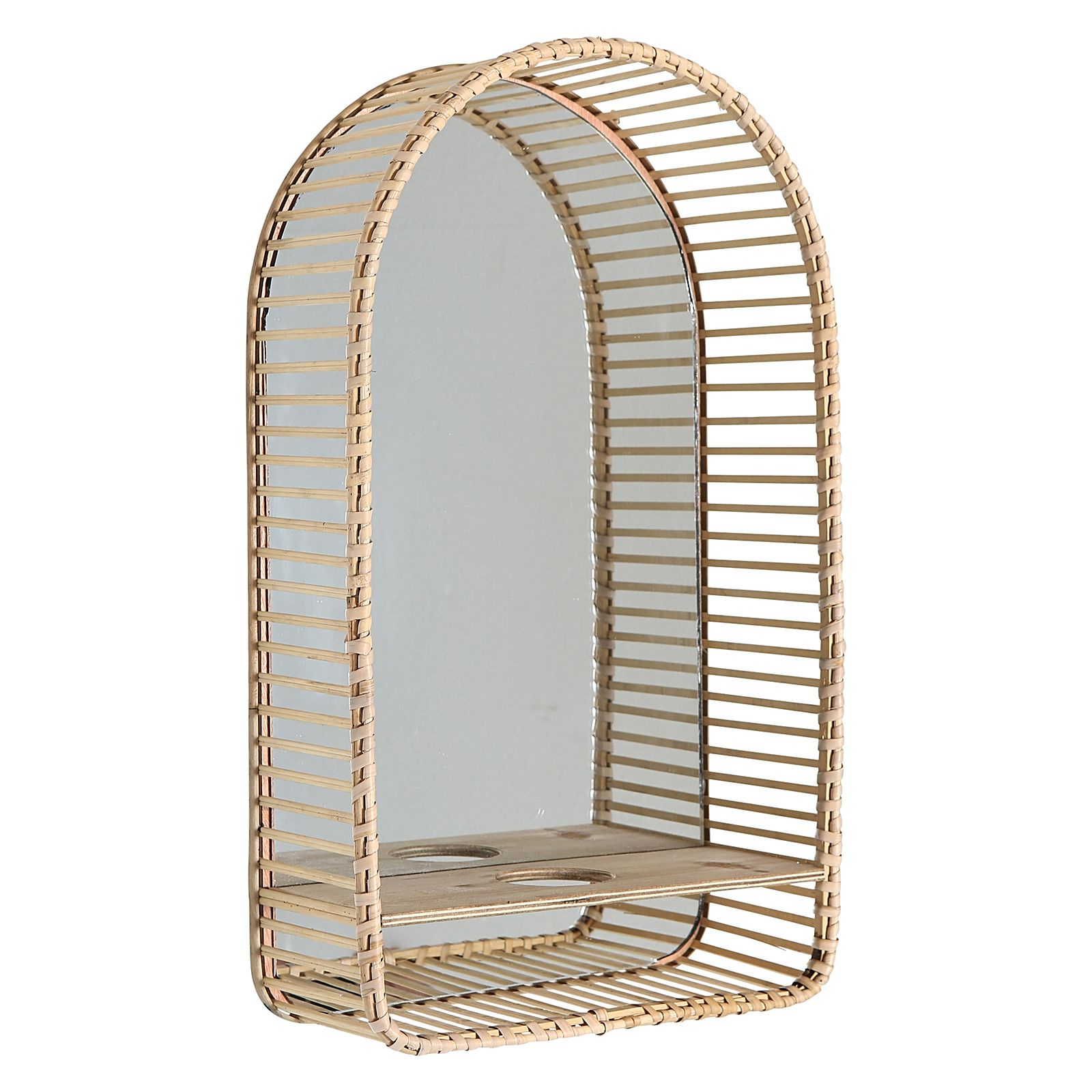 Hana Arch Wall Mirror With Candle Holder Intended For Trendy Reflection Wall Mirrors (Gallery 8 of 20)