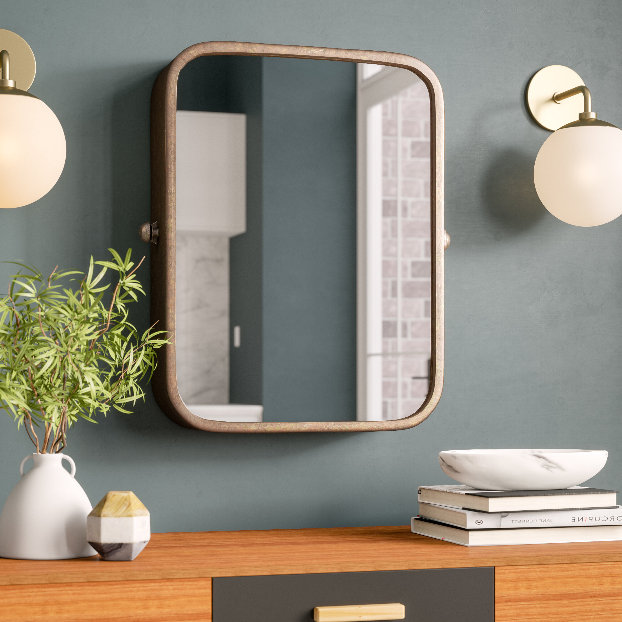 Hanging Wall Mirrors Throughout Most Recent Lavendon And Hanging Wall Mirror (Gallery 6 of 20)