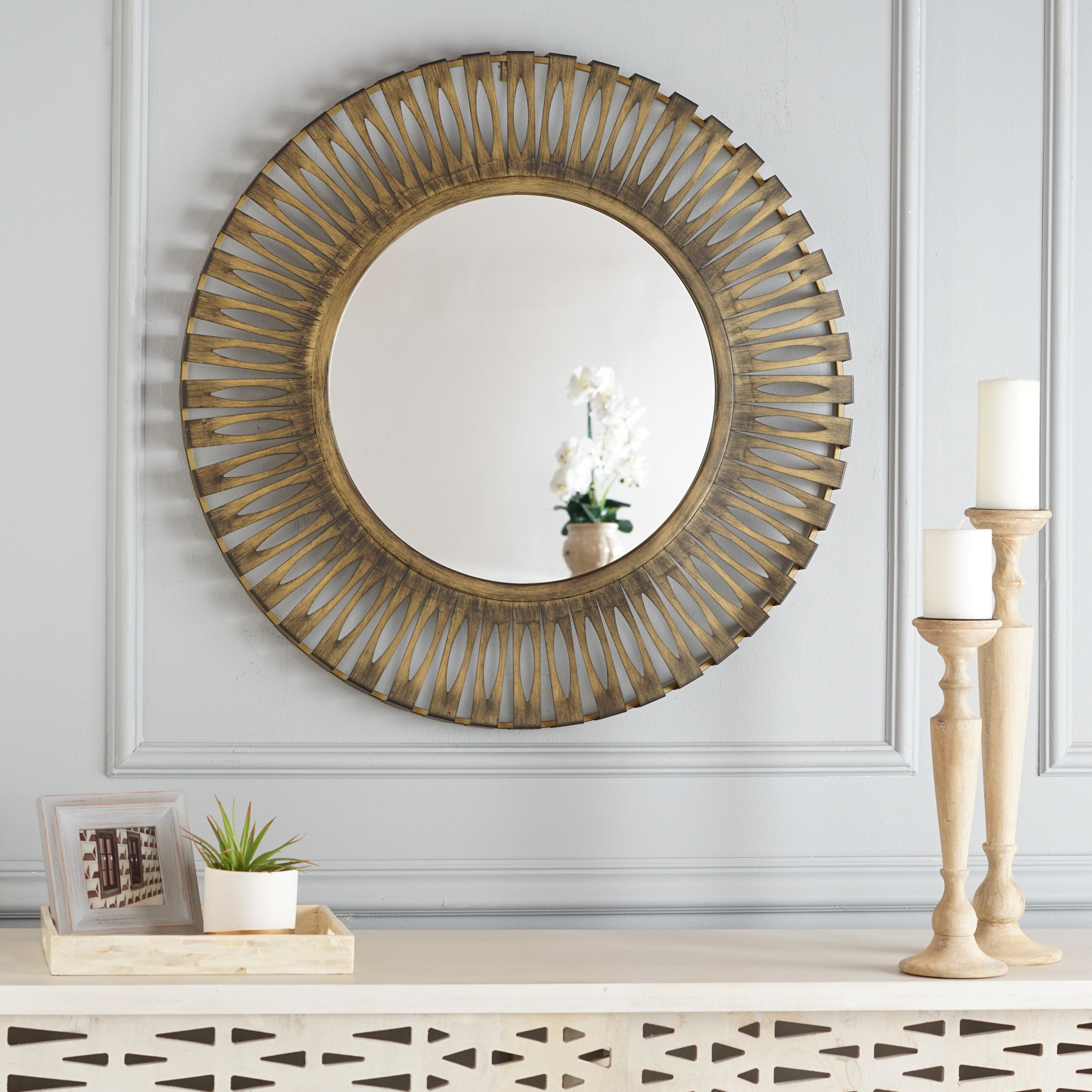 Hanging Wall Mirrors Throughout Newest Nitin Hanging Modern & Contemporary Accent Wall Mirror (Gallery 19 of 20)