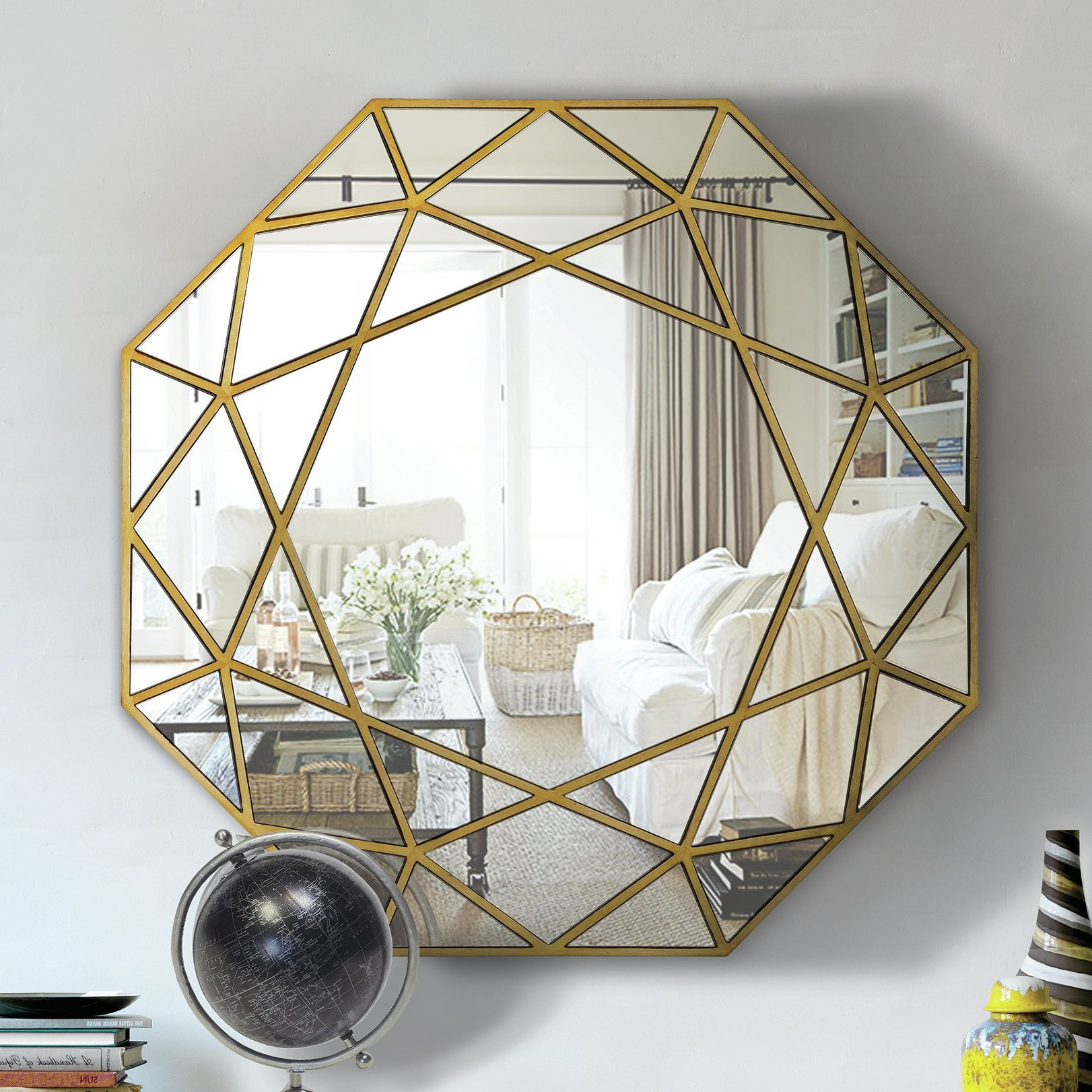 Harbert Modern And Contemporary Distressed Accent Mirrors For Well Known Angelena Modern & Contemporary Accent Wall Mirror (Gallery 19 of 20)